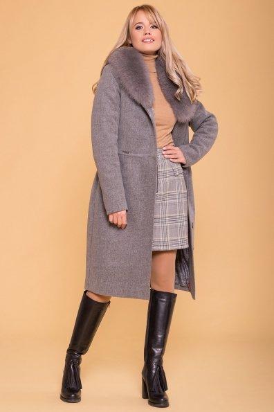 Пальто зима Габриэлла 5889 Цвет: Серый 18
