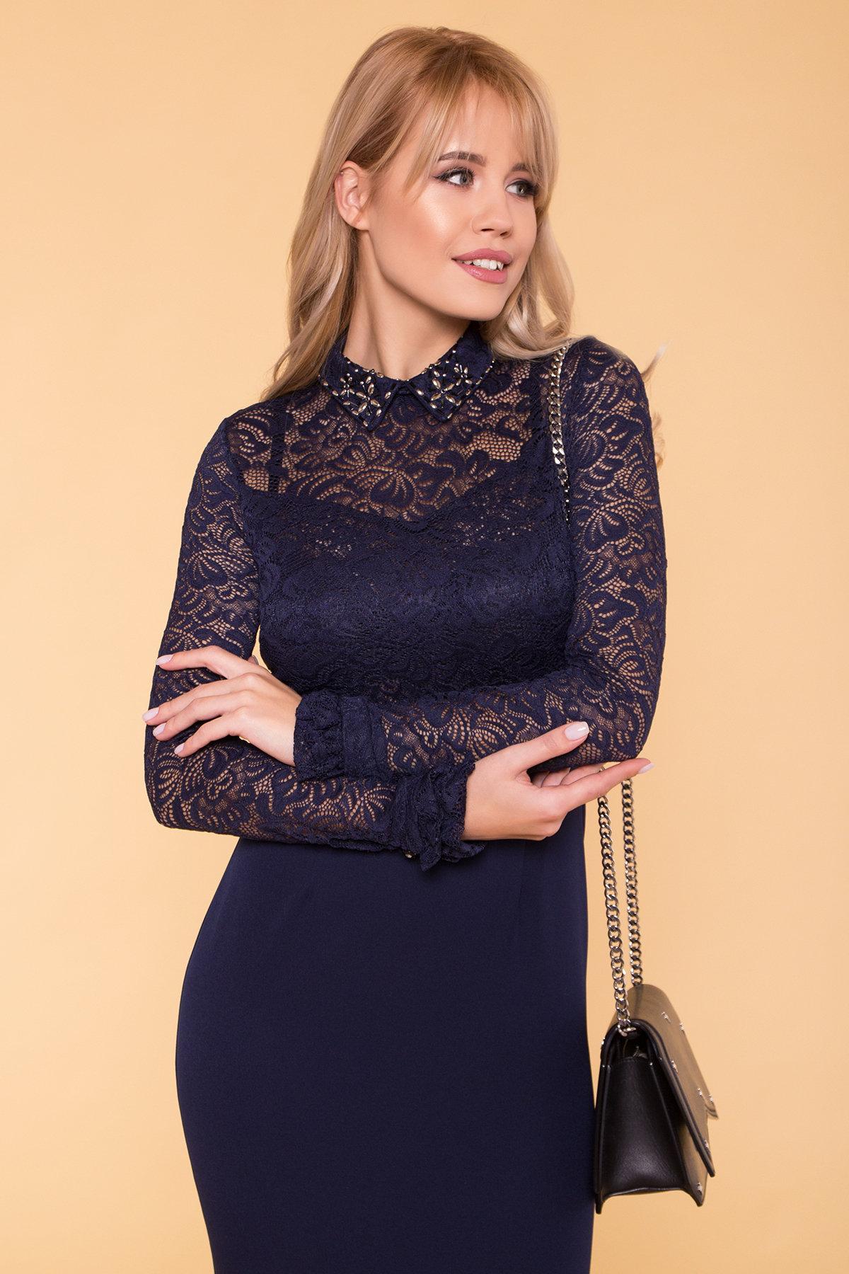 Платье Серсея 4294 АРТ. 20755 Цвет: Темно-синий - фото 3, интернет магазин tm-modus.ru
