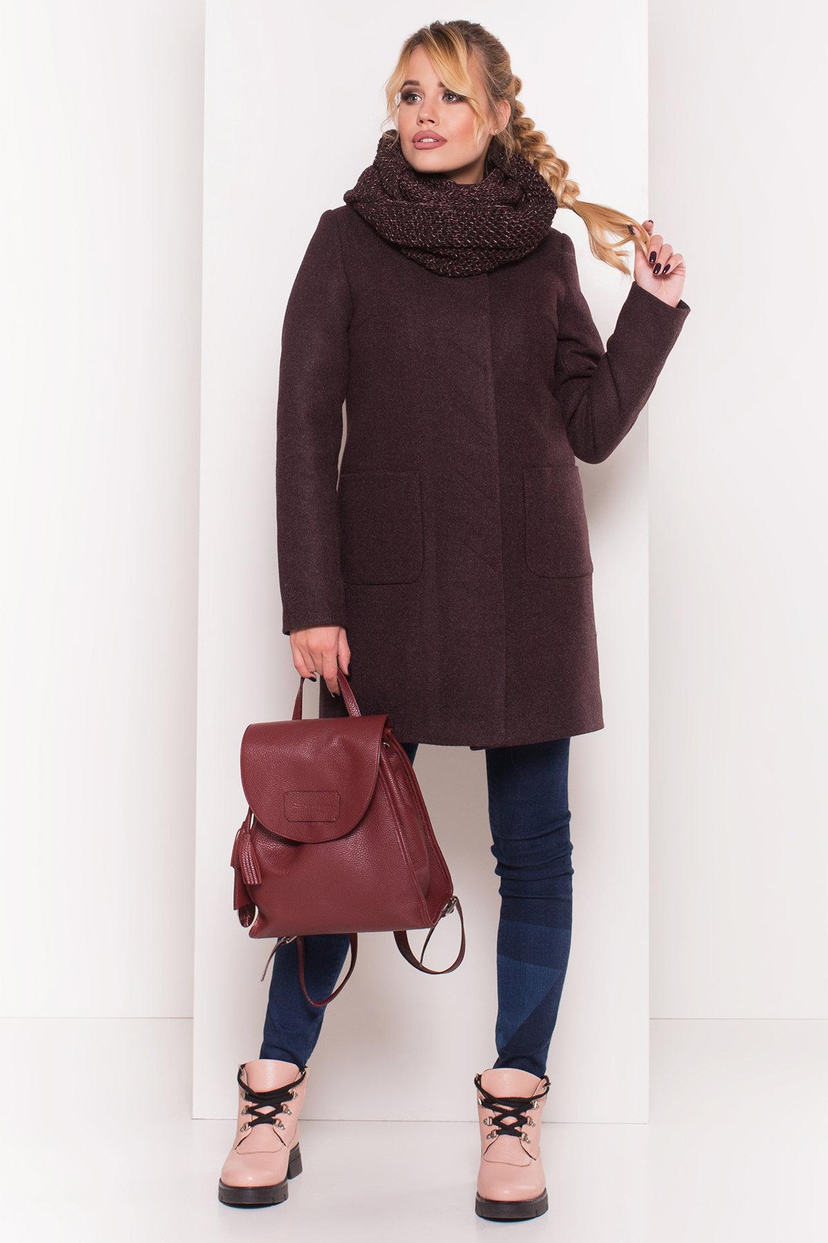 Зимнее пальто молодежное Пальто зима с хомутом Мелини 5644