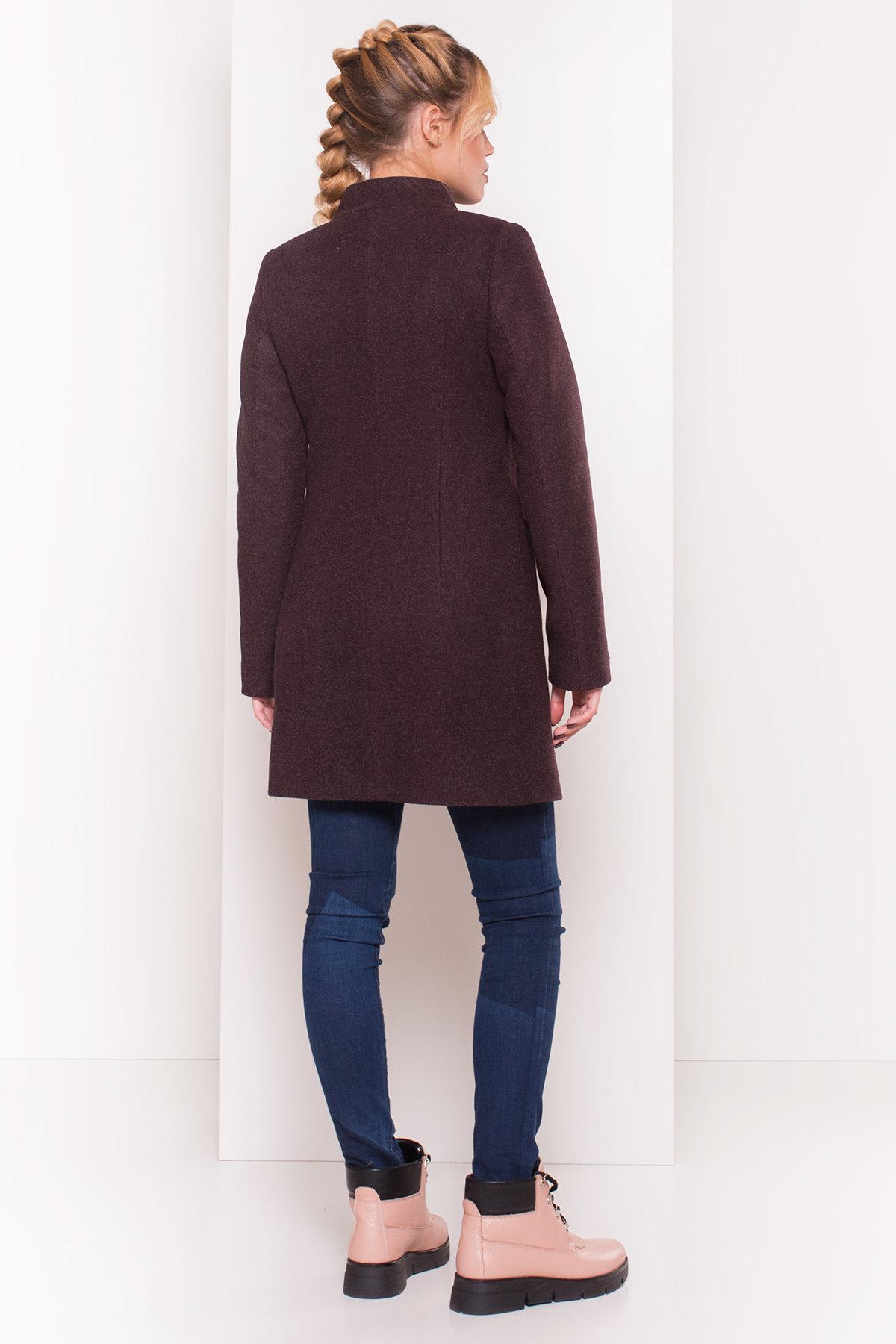 Пальто зима с хомутом Мелини 5644 АРТ. 38236 Цвет: Марсала 5 - фото 2, интернет магазин tm-modus.ru