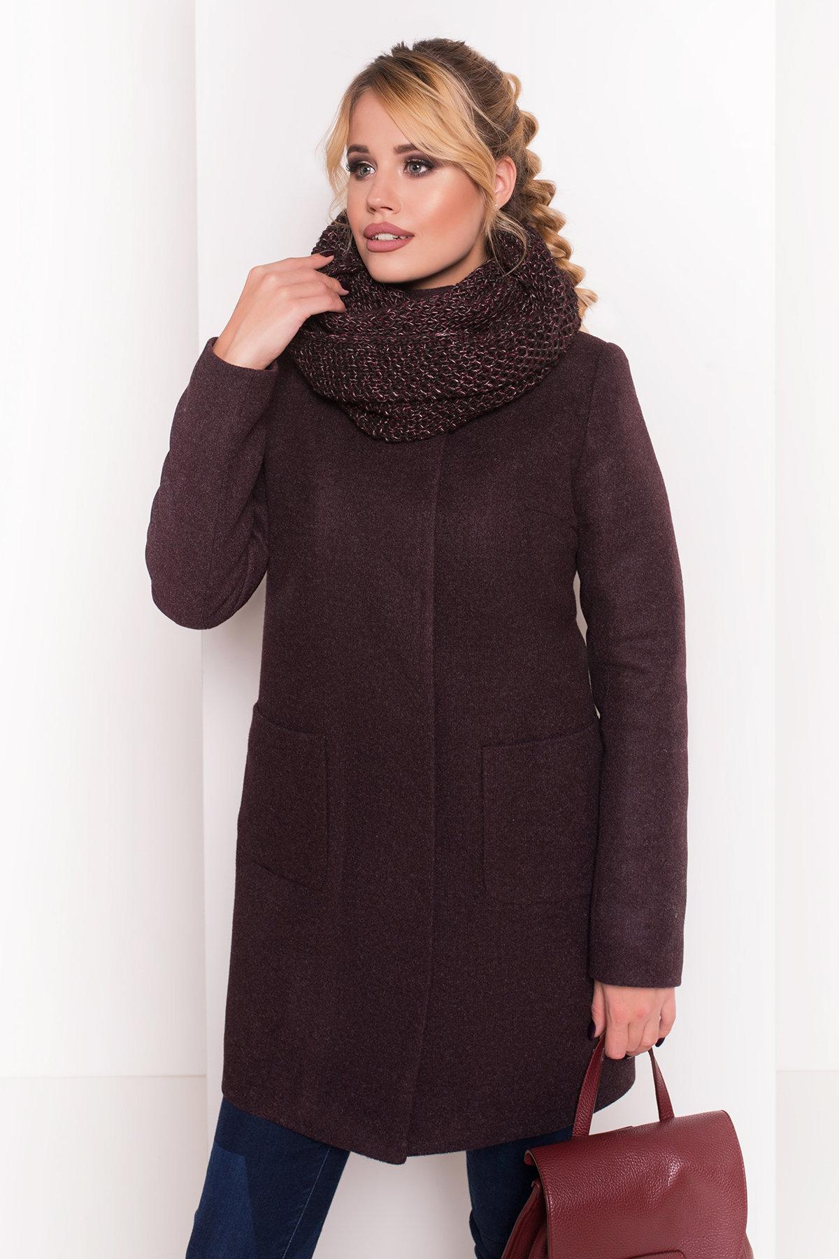Пальто зима с хомутом Мелини 5644 АРТ. 38236 Цвет: Марсала 5 - фото 5, интернет магазин tm-modus.ru
