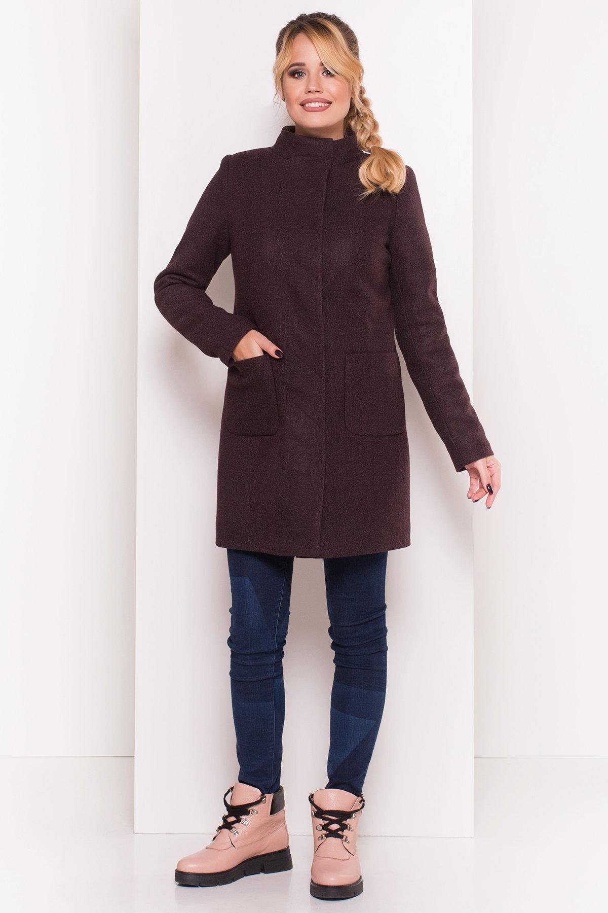 Пальто зима с хомутом Мелини 5644 АРТ. 38236 Цвет: Марсала 5 - фото 4, интернет магазин tm-modus.ru