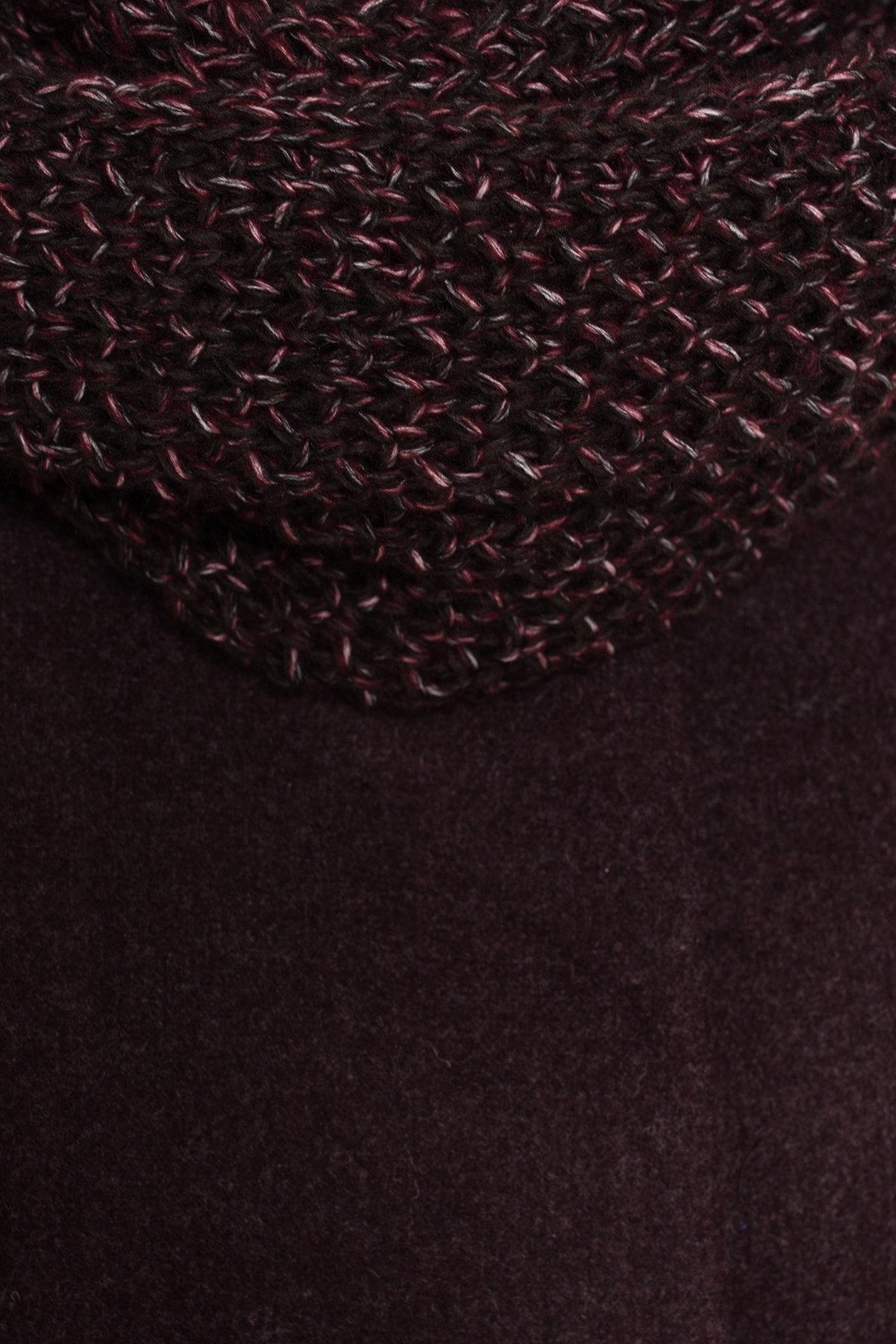 Пальто зима с хомутом Мелини 5644 АРТ. 38236 Цвет: Марсала 5 - фото 6, интернет магазин tm-modus.ru