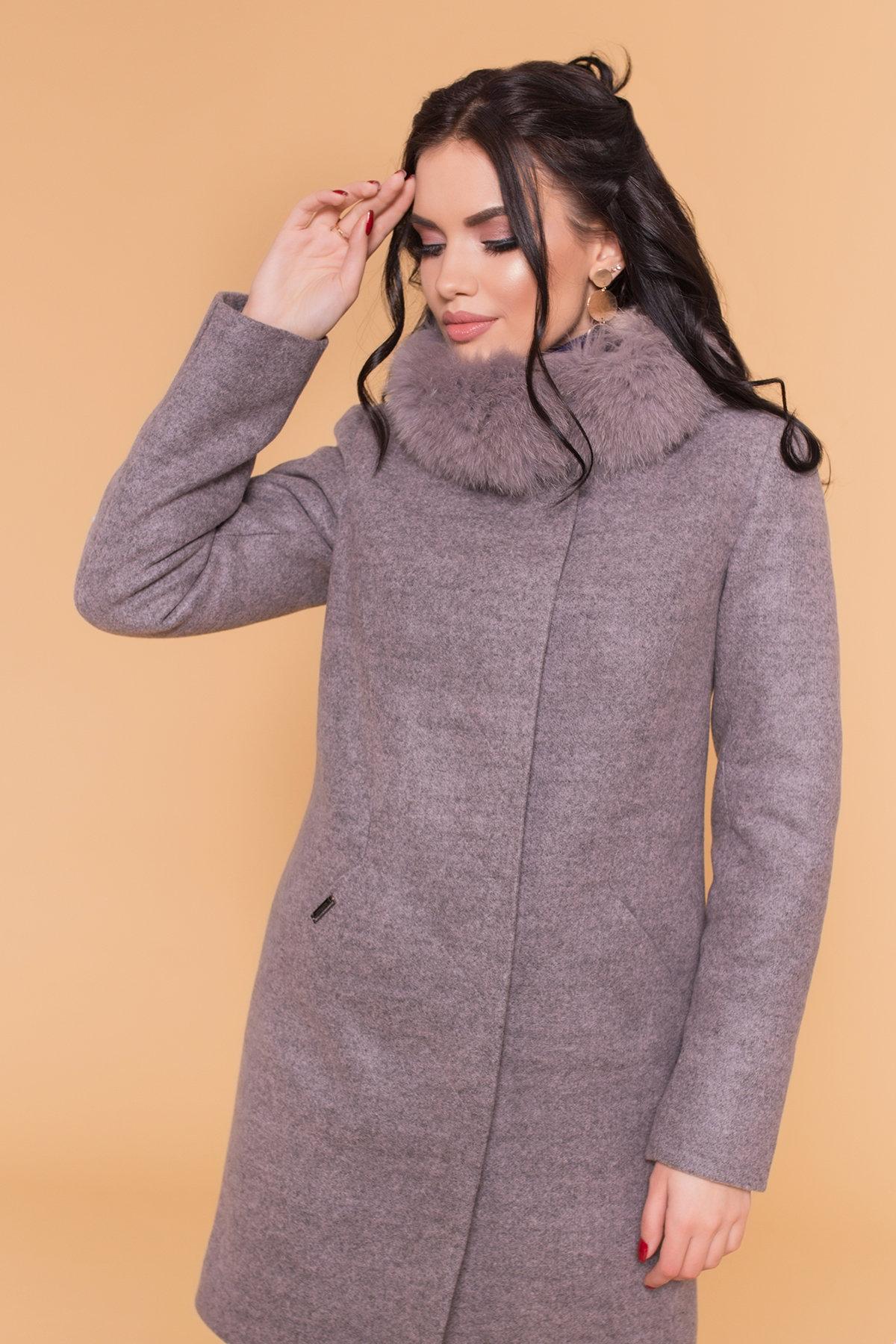 Пальто зима Сплит 5958 Цвет: Серый/розовый 78