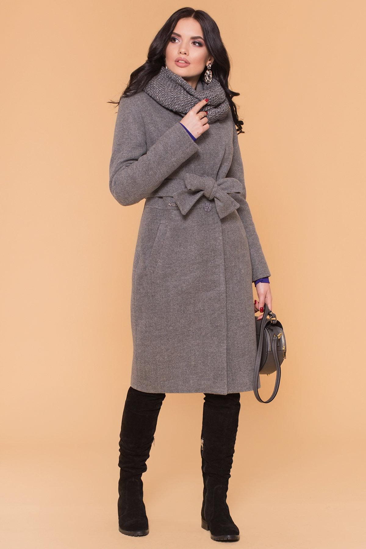 Пальто зима Габриэлла 5891 Цвет: Серый 18