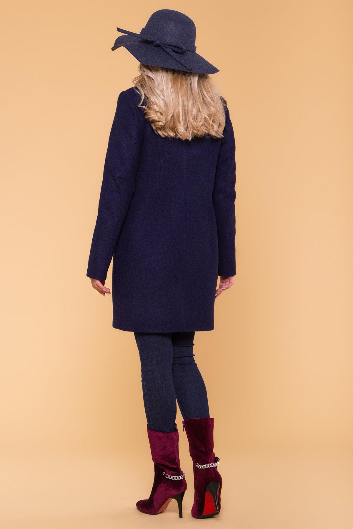 Зимнее пальто с хомутом Фортуна лайт 5802 АРТ. 40536 Цвет: Т.синий 17 - фото 2, интернет магазин tm-modus.ru