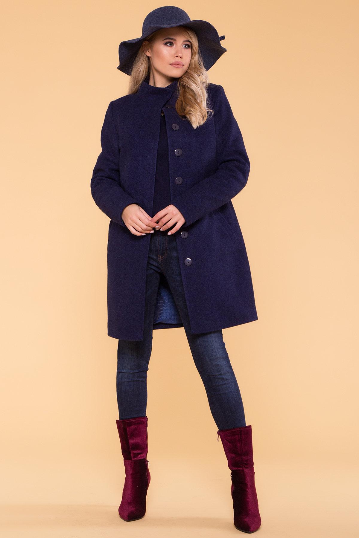 Зимнее пальто с хомутом Фортуна лайт 5802 АРТ. 40536 Цвет: Т.синий 17 - фото 3, интернет магазин tm-modus.ru