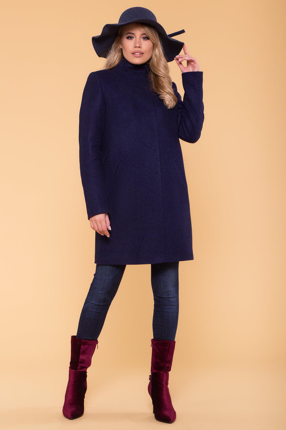 Зимнее пальто с хомутом Фортуна лайт 5802 АРТ. 40536 Цвет: Т.синий 17 - фото 4, интернет магазин tm-modus.ru