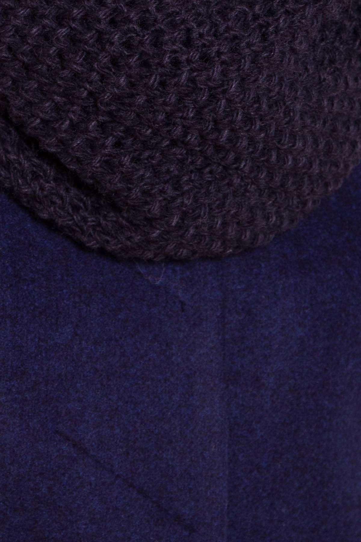 Зимнее пальто с хомутом Фортуна лайт 5802 АРТ. 40536 Цвет: Т.синий 17 - фото 6, интернет магазин tm-modus.ru