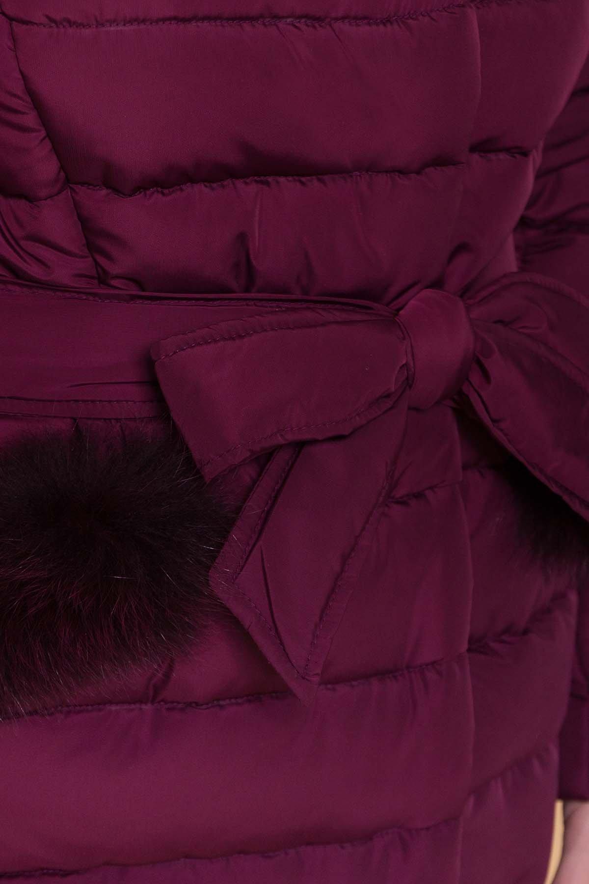 Пуховик Кассия 4219 Цвет: Марсала темный