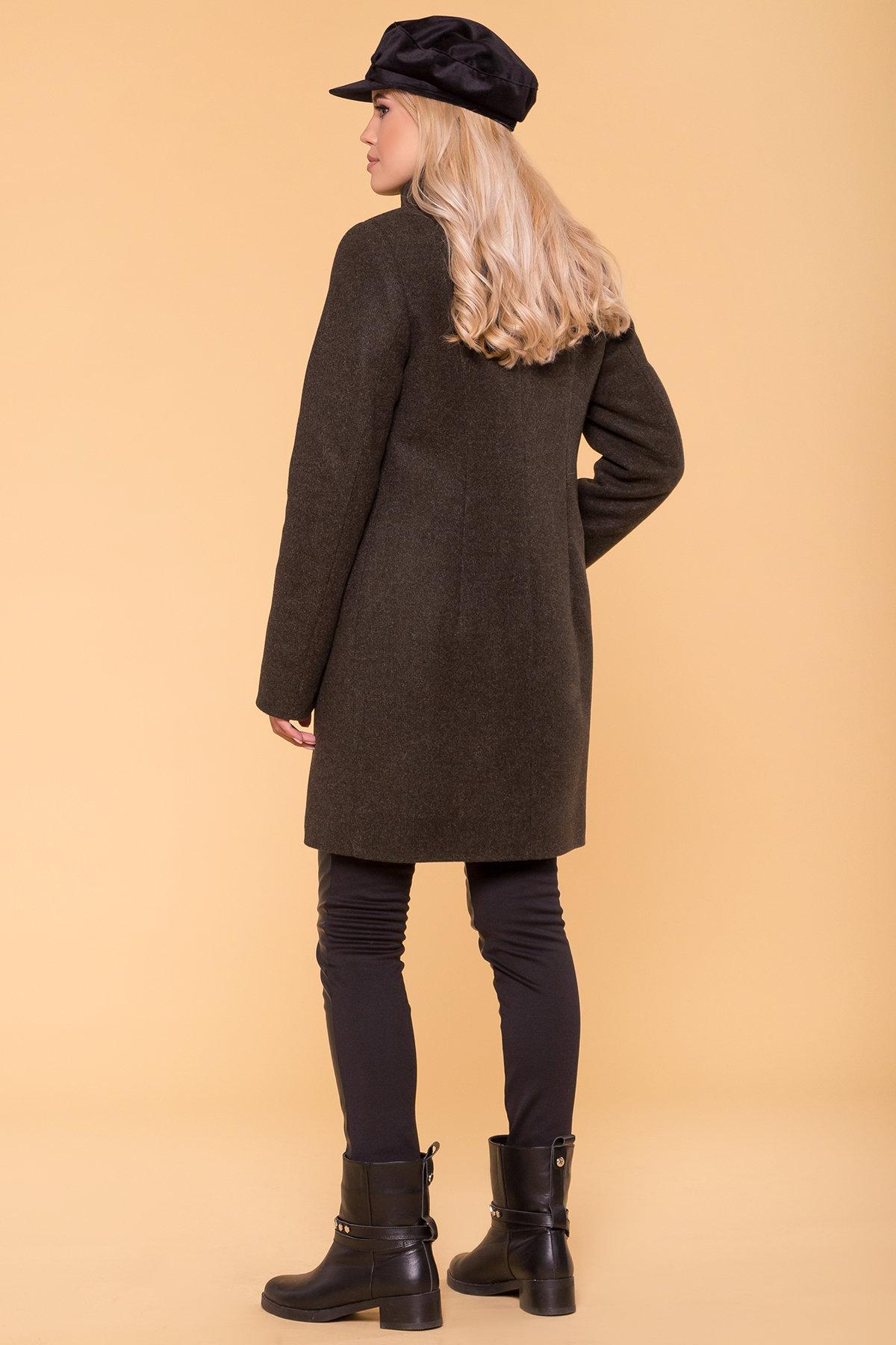 Зимнее пальто с хомутом Фортуна лайт 5802 АРТ. 40535 Цвет: Хаки 16 - фото 2, интернет магазин tm-modus.ru