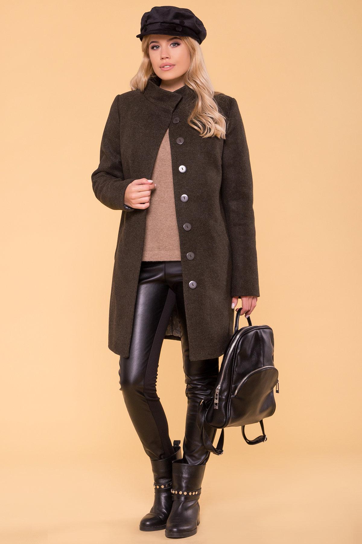 Зимнее пальто с хомутом Фортуна лайт 5802 АРТ. 40535 Цвет: Хаки 16 - фото 3, интернет магазин tm-modus.ru