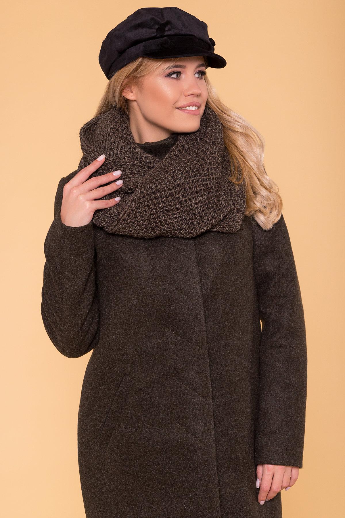 Зимнее пальто с хомутом Фортуна лайт 5802 АРТ. 40535 Цвет: Хаки 16 - фото 5, интернет магазин tm-modus.ru