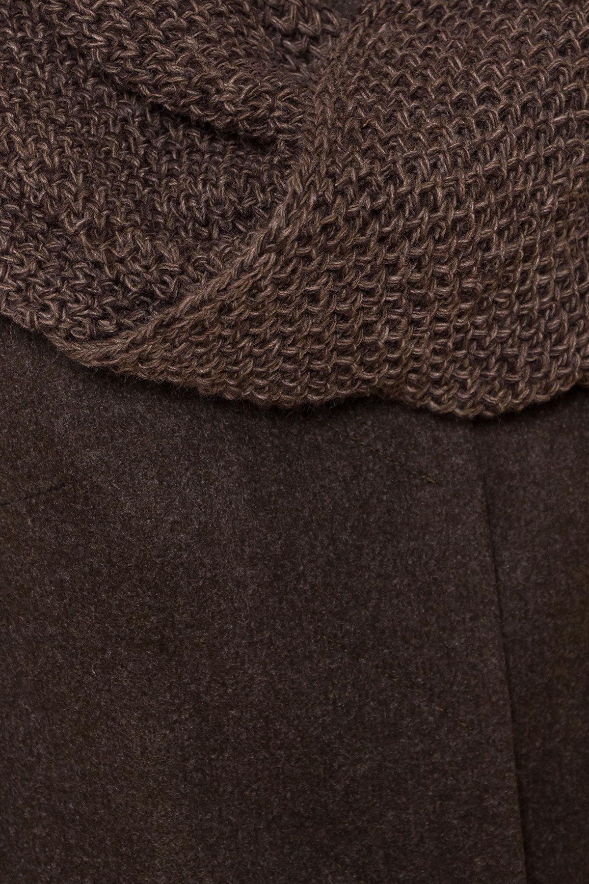 Зимнее пальто с хомутом Фортуна лайт 5802 Цвет: Хаки 16
