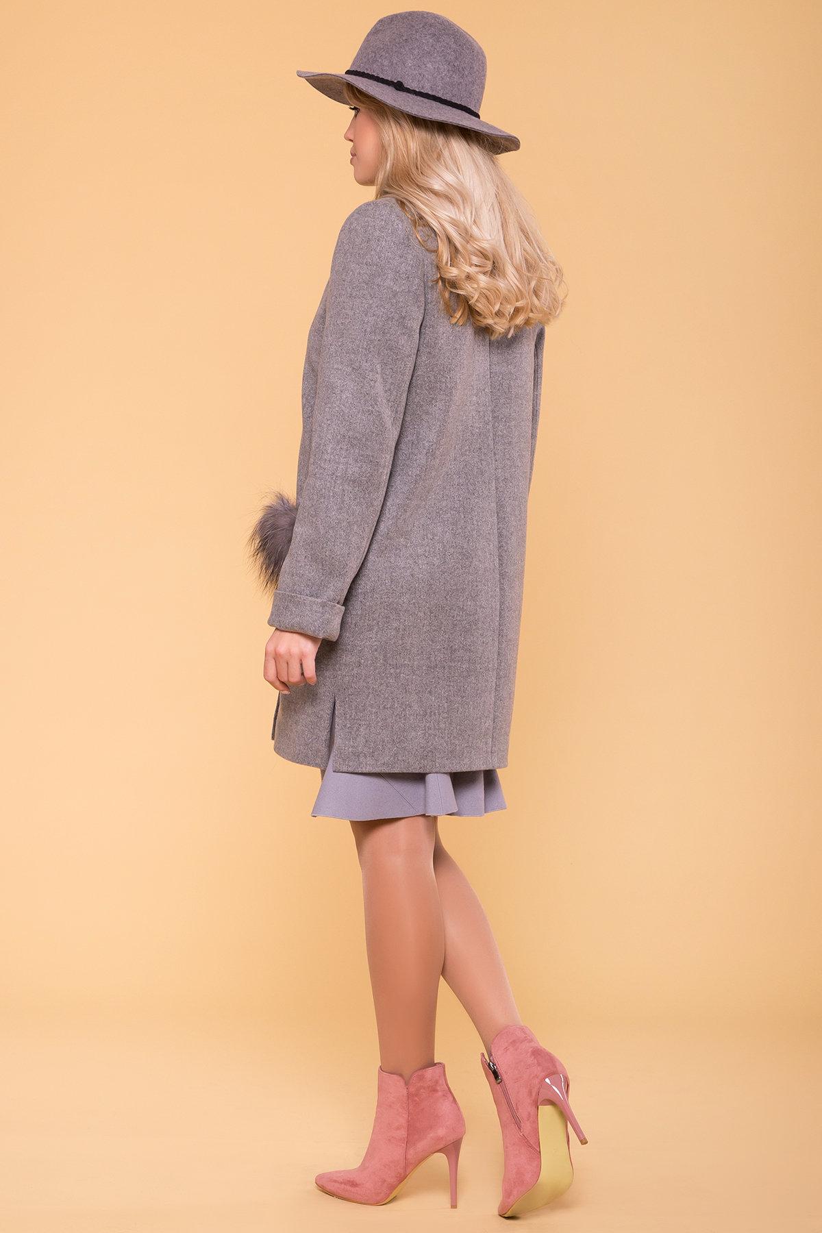 Пальто зима Ажен 5780 Цвет: Серый 18