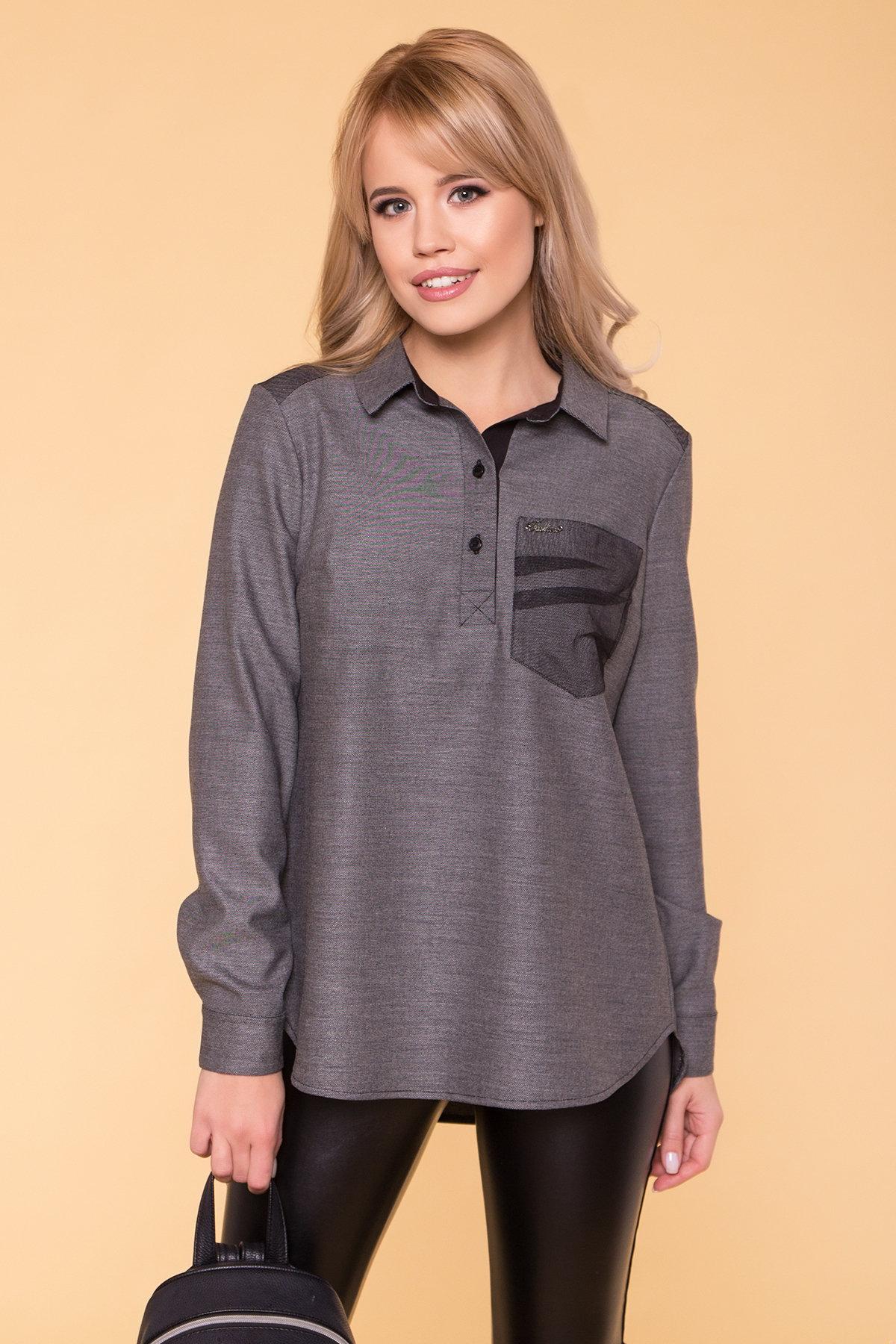 Стильная повседневная рубашка Мариз  5643  Цвет: Серый