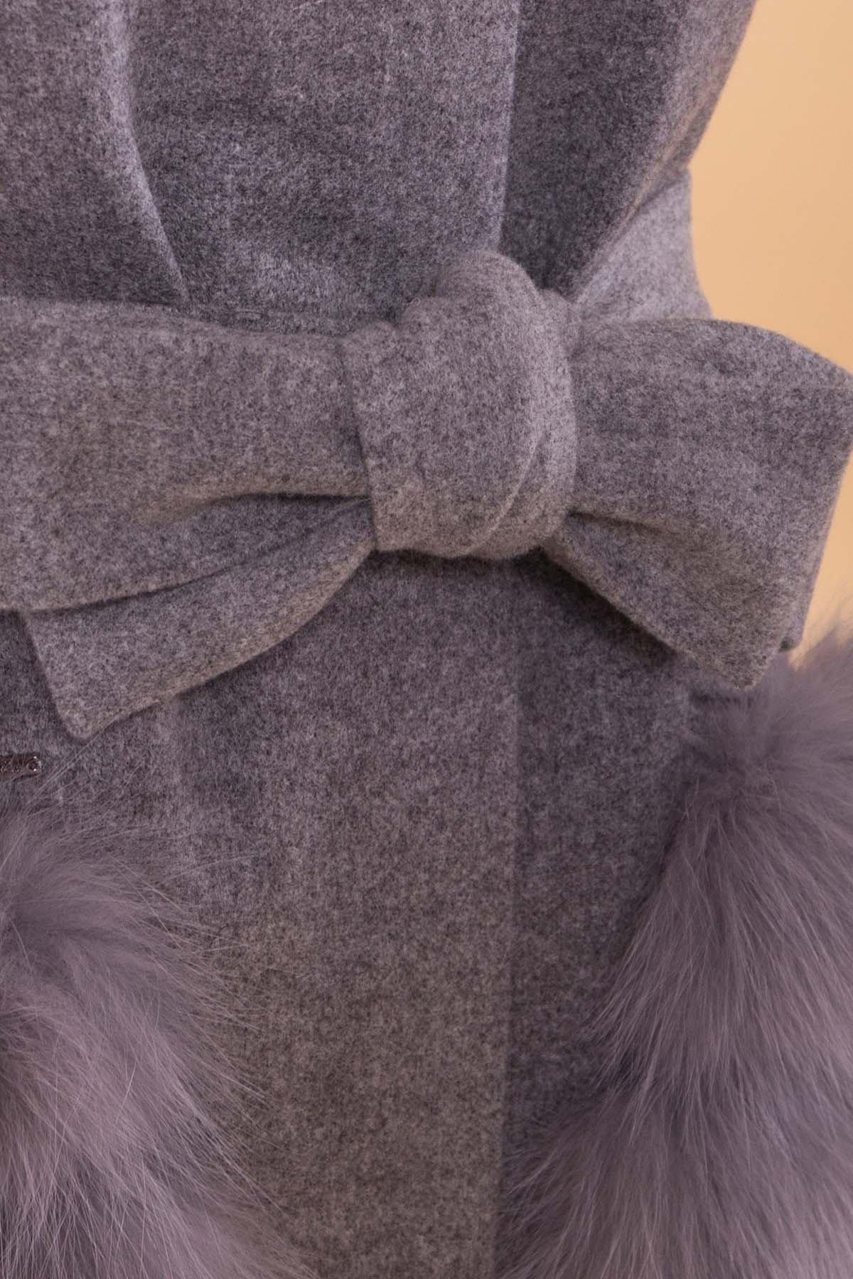 Пальто зима  Анита 4120 Цвет: Серый 18