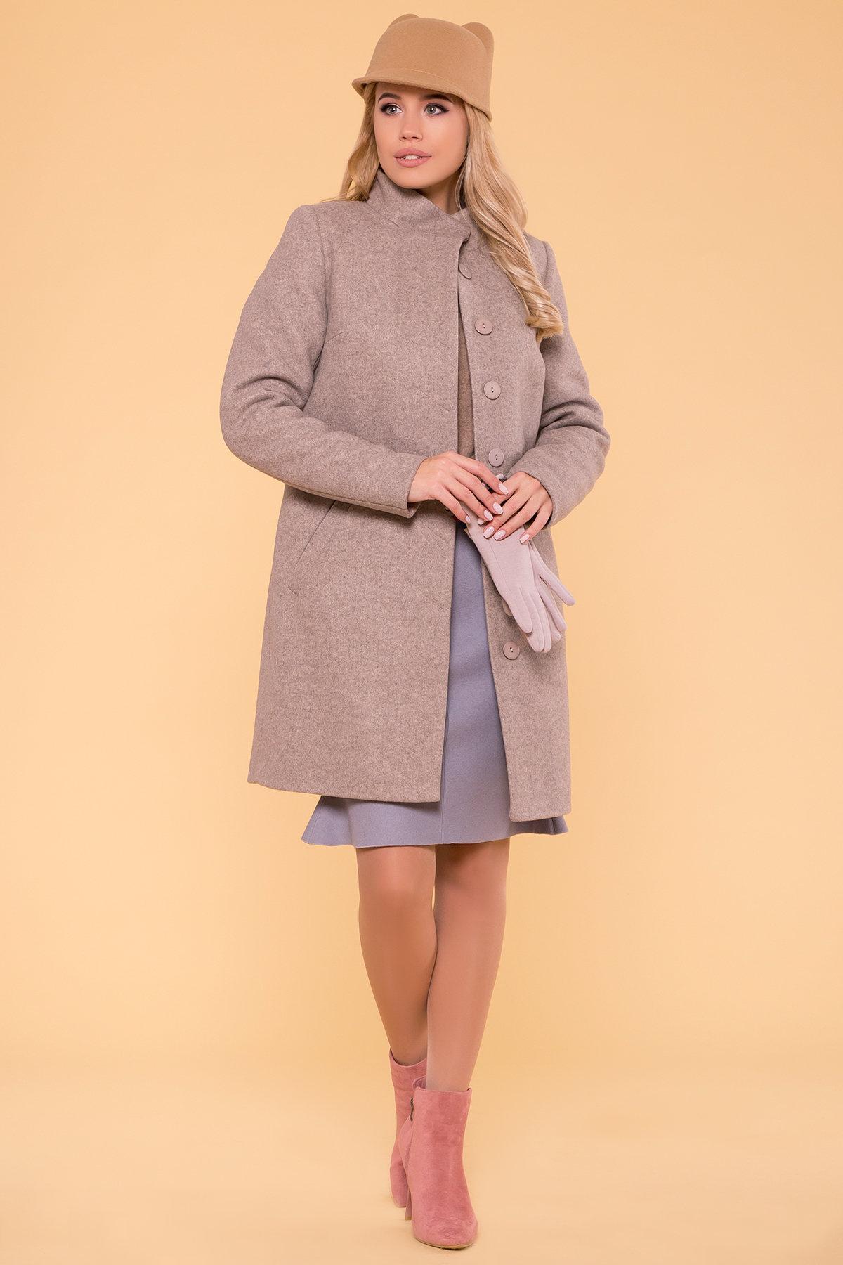 Зимнее пальто с воротником стойка Фортуна лайт 5804 АРТ. 39369 Цвет: Бежевый 10 - фото 3, интернет магазин tm-modus.ru