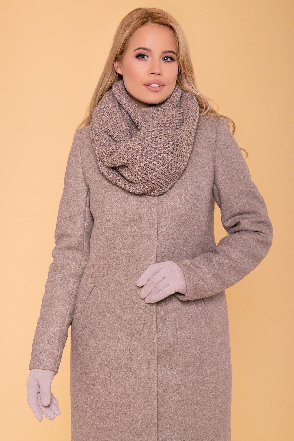 Зимнее пальто с воротником стойка Фортуна лайт 5804 АРТ. 39369 Цвет: Бежевый 10 - фото 5, интернет магазин tm-modus.ru