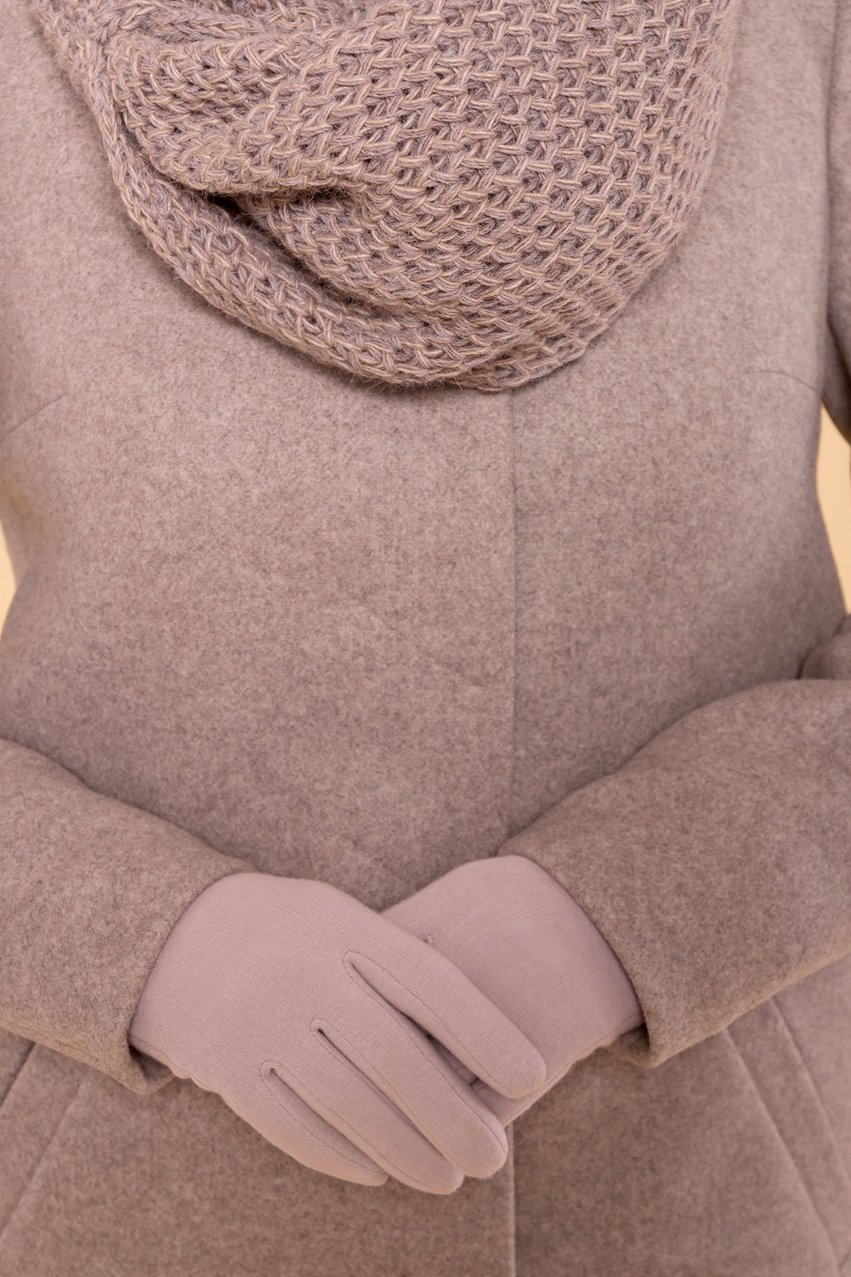 Зимнее пальто с воротником стойка Фортуна лайт 5804 АРТ. 39369 Цвет: Бежевый 10 - фото 6, интернет магазин tm-modus.ru