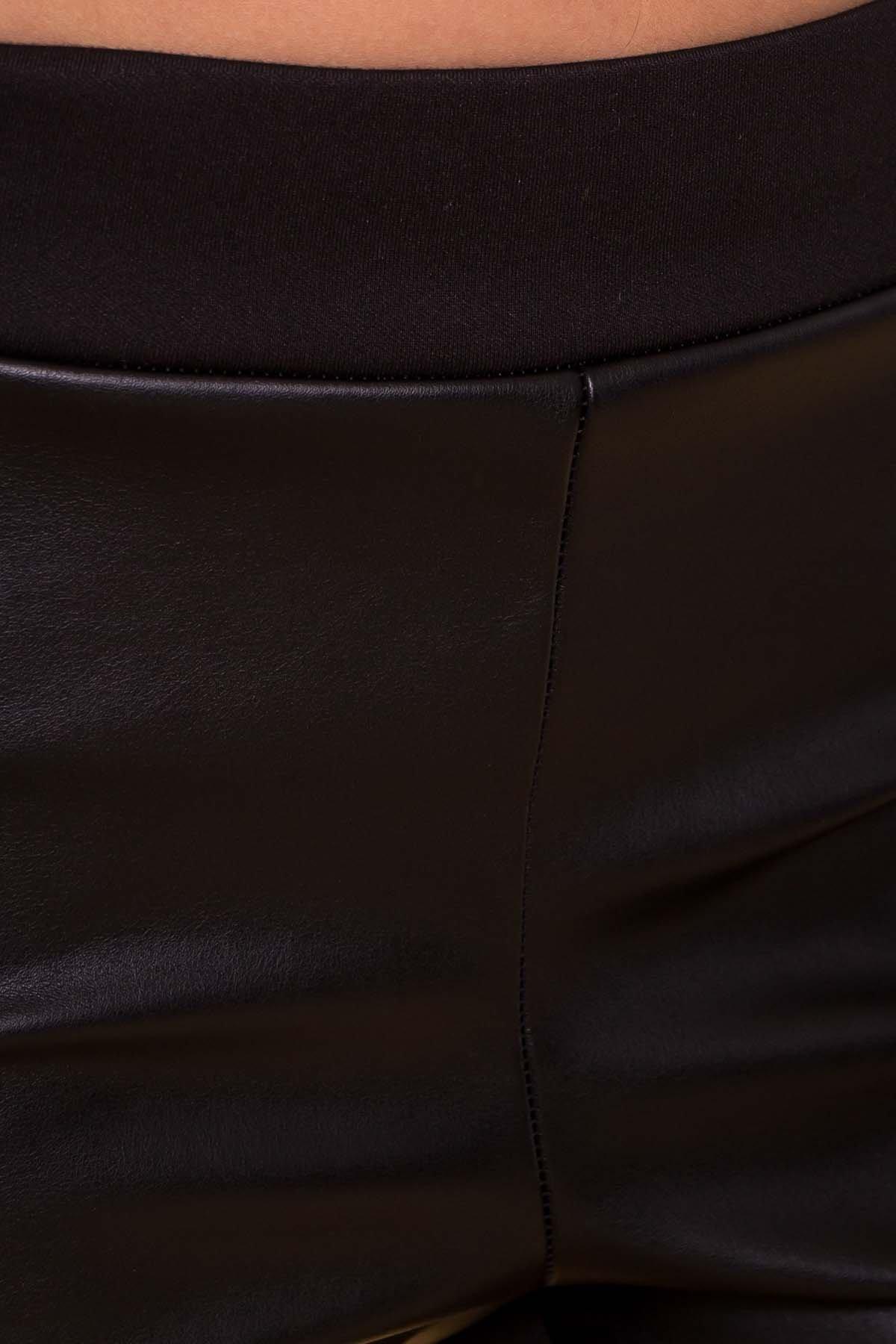 Брюки-лосины эко кожи Дольчи 5968 Цвет: Черный