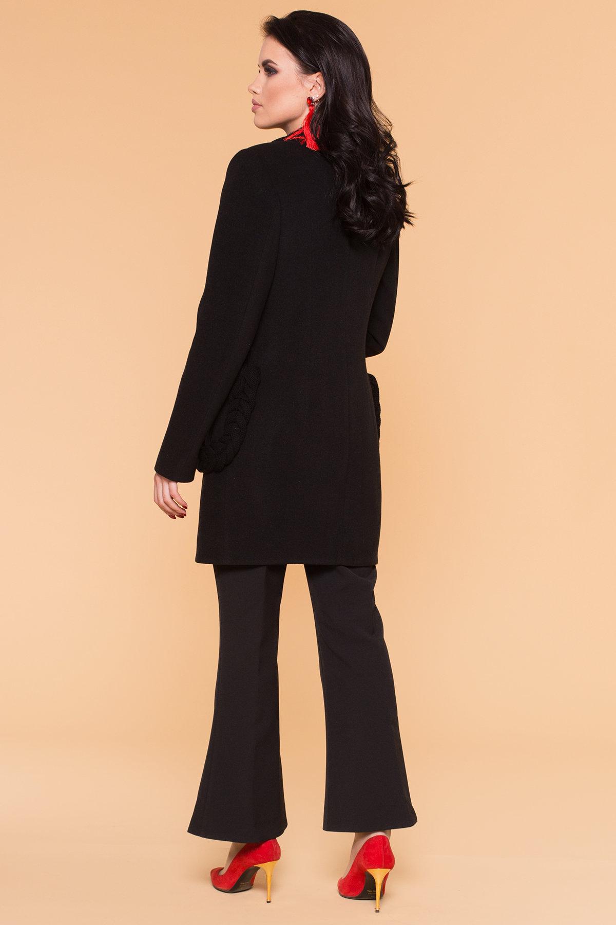Пальто Женева 1325 АРТ. 9127 Цвет: Черный - фото 2, интернет магазин tm-modus.ru
