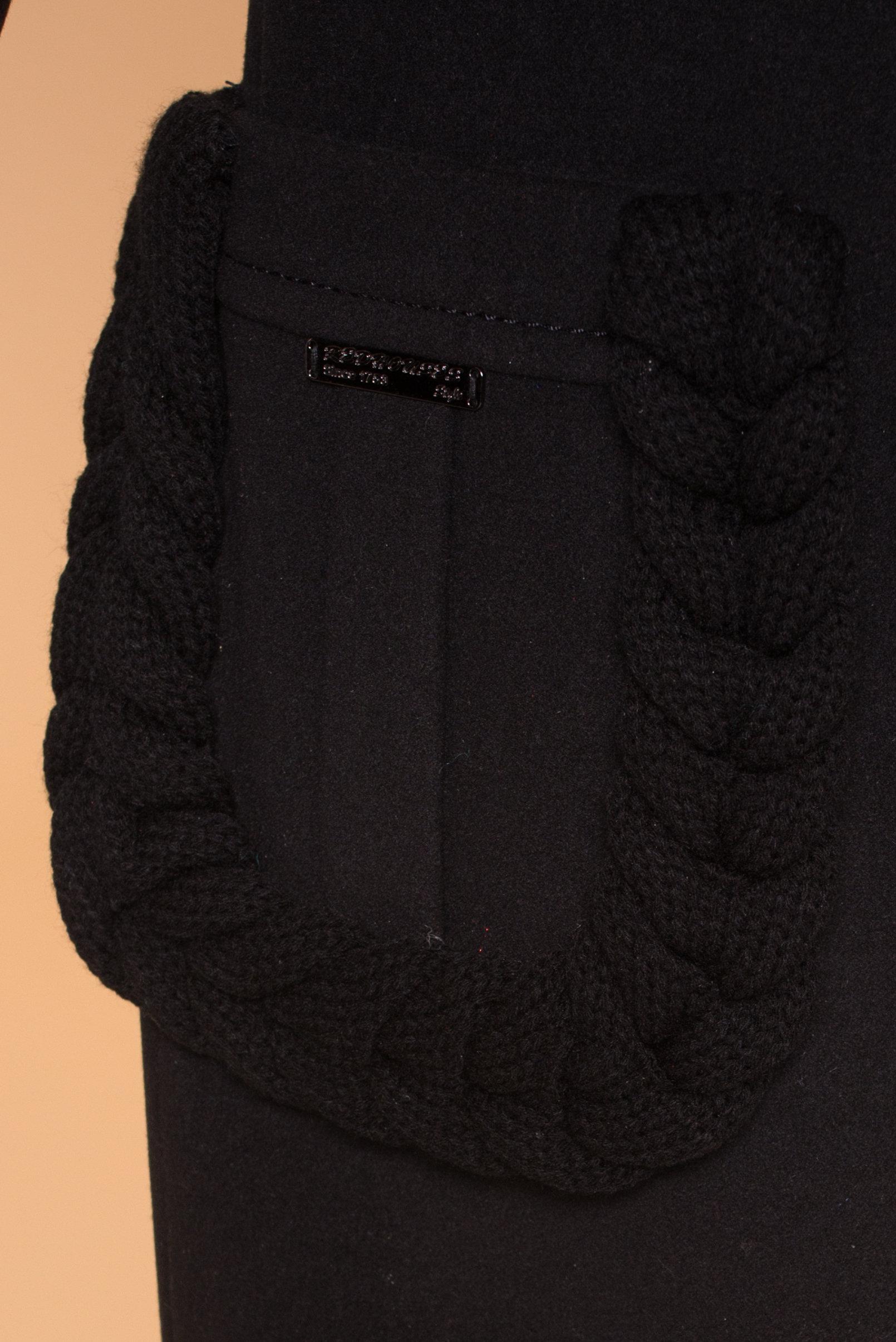 Пальто Женева 1325 АРТ. 9127 Цвет: Черный - фото 5, интернет магазин tm-modus.ru