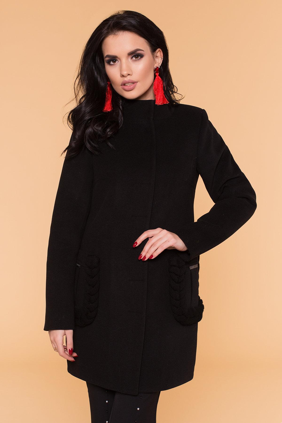 Пальто Женева 1325 АРТ. 9127 Цвет: Черный - фото 4, интернет магазин tm-modus.ru