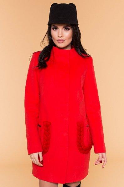 Пальто Женева 1325 Цвет: Красный