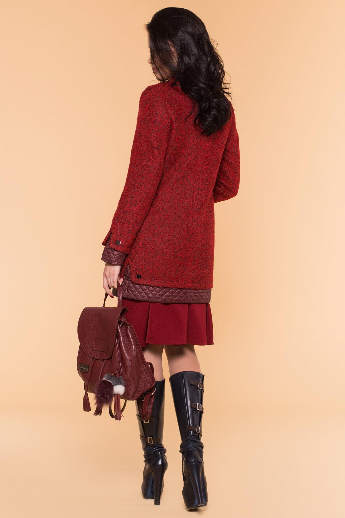 Пальто Амберг 1450  АРТ. 9183 Цвет: Красный/черный/бордо - фото 2, интернет магазин tm-modus.ru