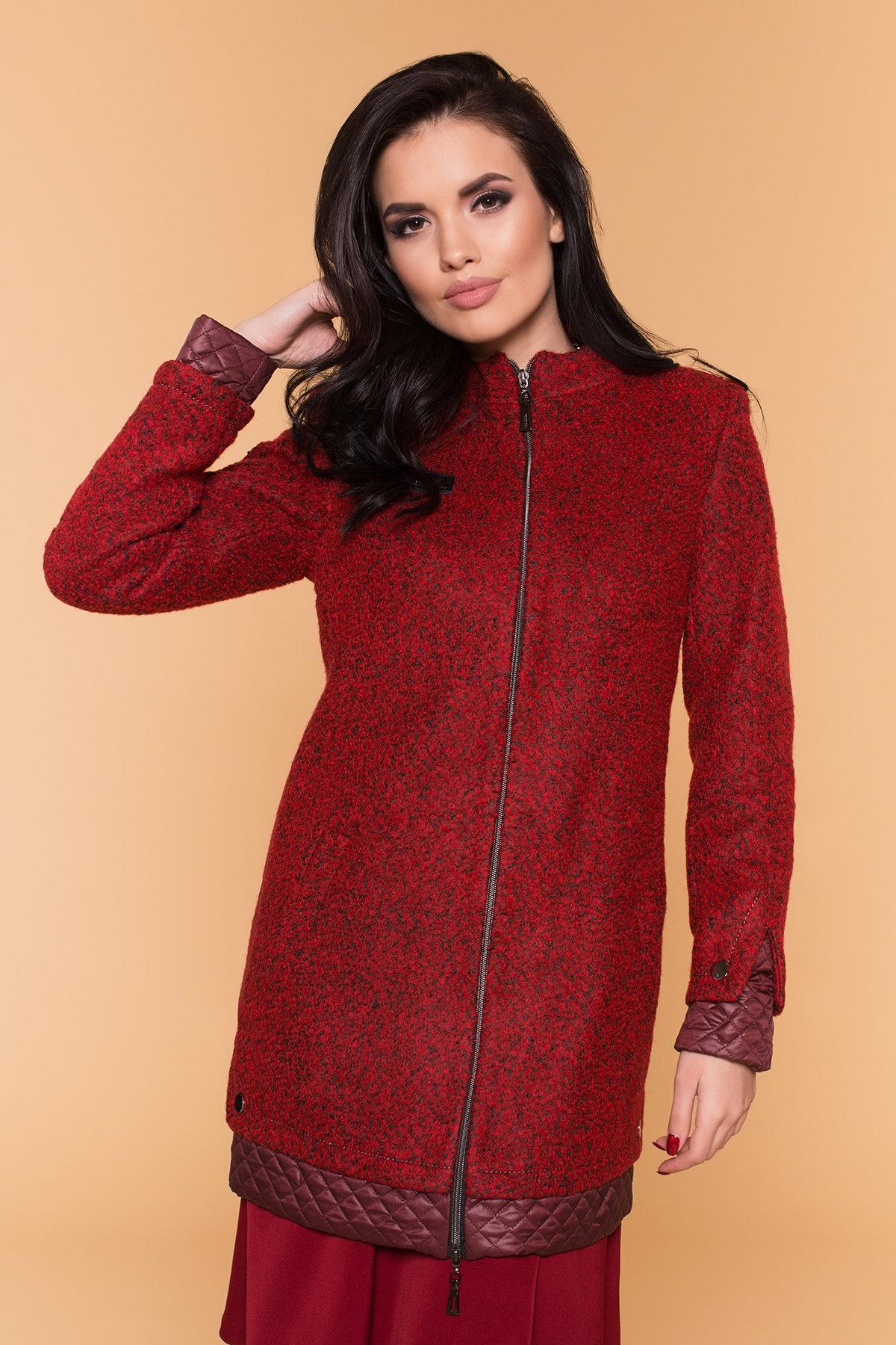 Пальто Амберг 1450  АРТ. 9183 Цвет: Красный/черный/бордо - фото 4, интернет магазин tm-modus.ru