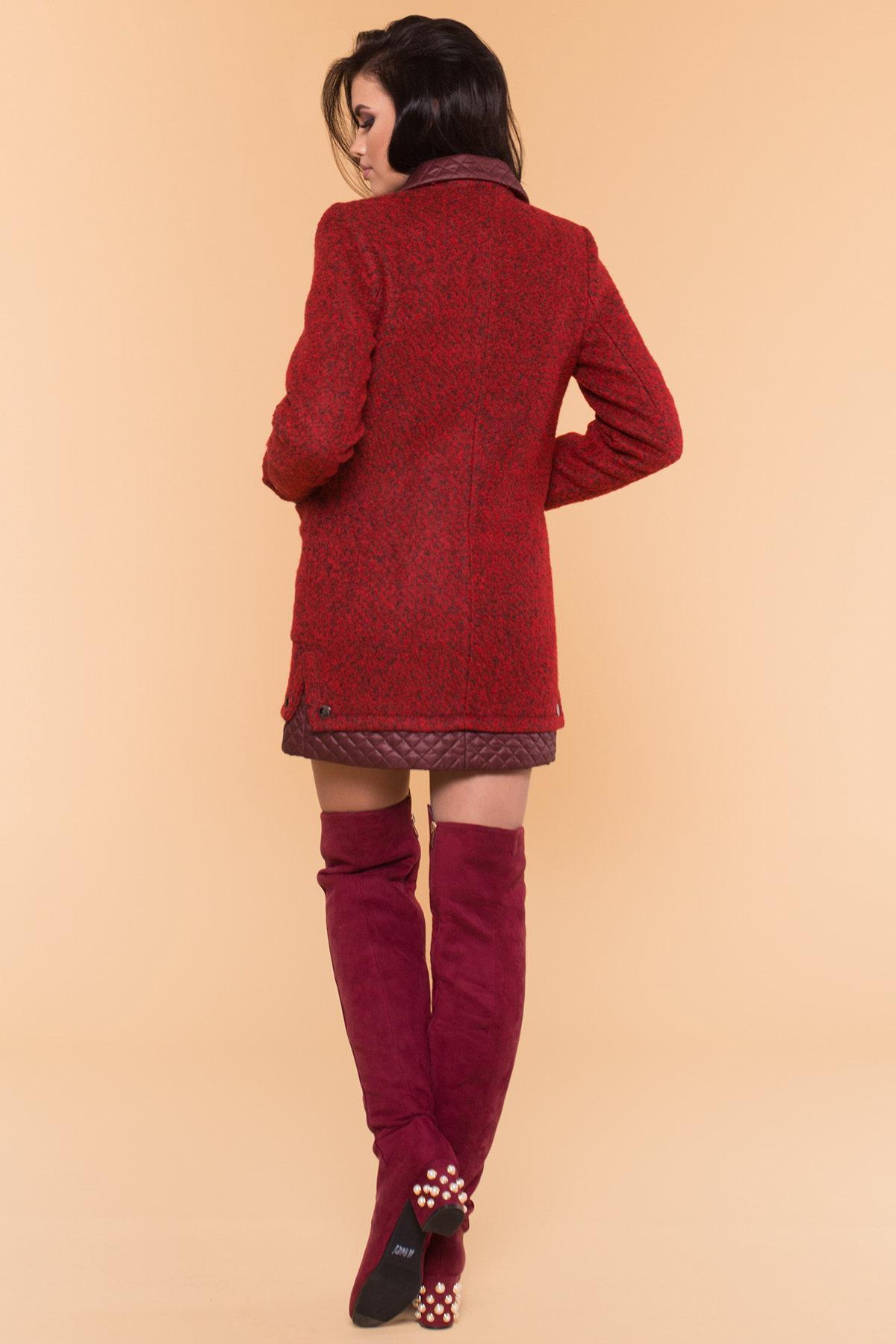 Пальто Астор 1052 АРТ. 9046 Цвет: Красный/черный/бордо - фото 2, интернет магазин tm-modus.ru