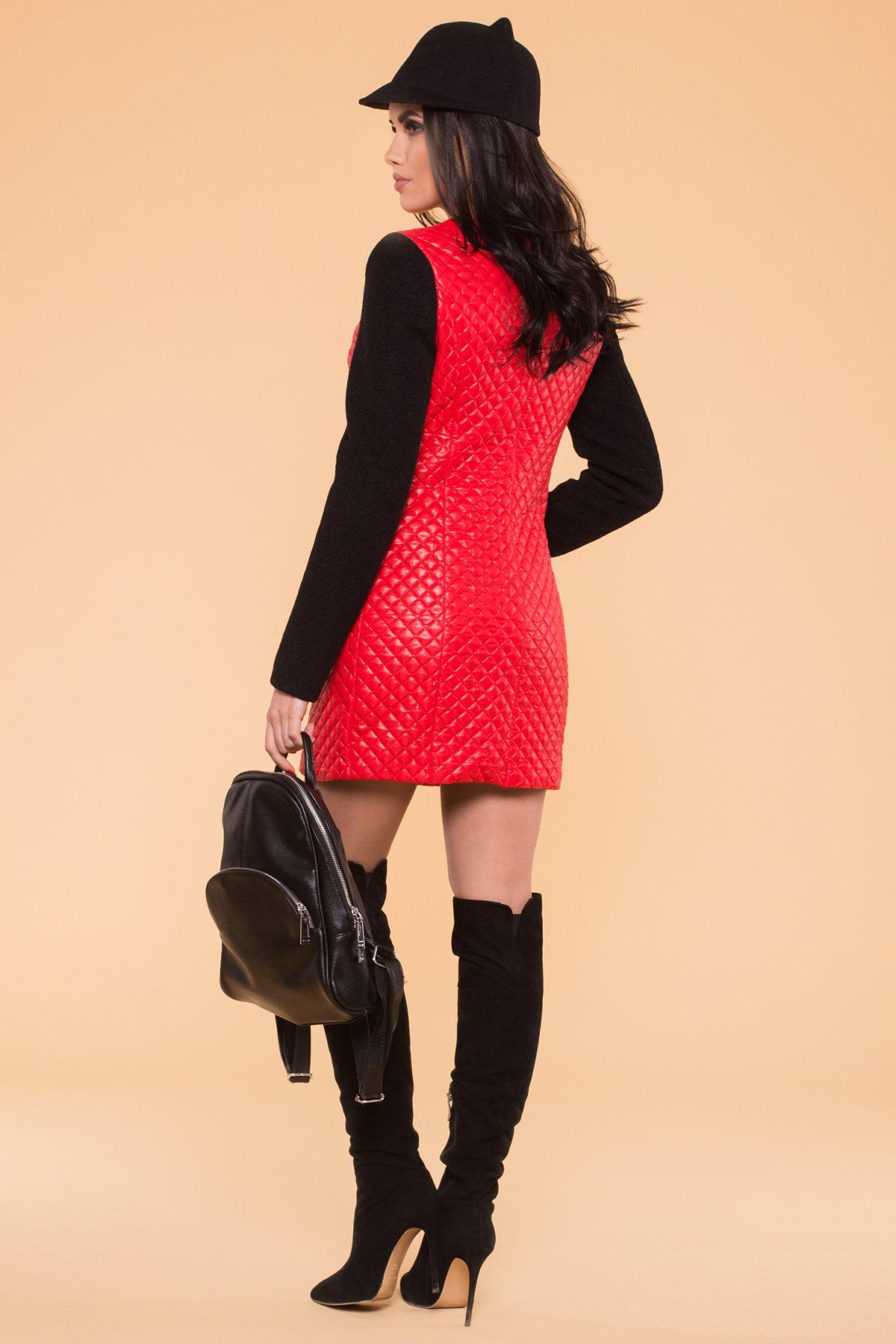Пальто Матео 4809 АРТ. 5602 Цвет: Красный/Черный 4 - фото 2, интернет магазин tm-modus.ru