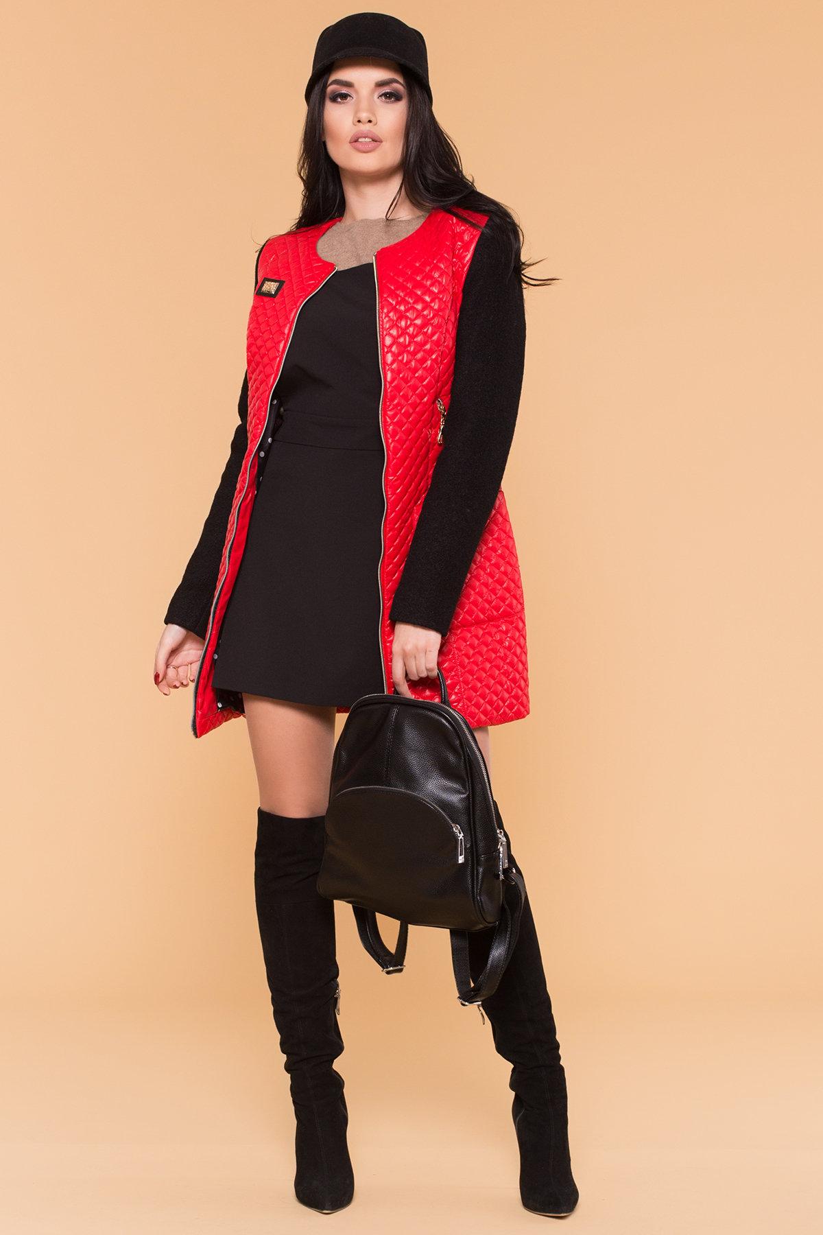 Пальто Матео 4809 АРТ. 5602 Цвет: Красный/Черный 4 - фото 3, интернет магазин tm-modus.ru