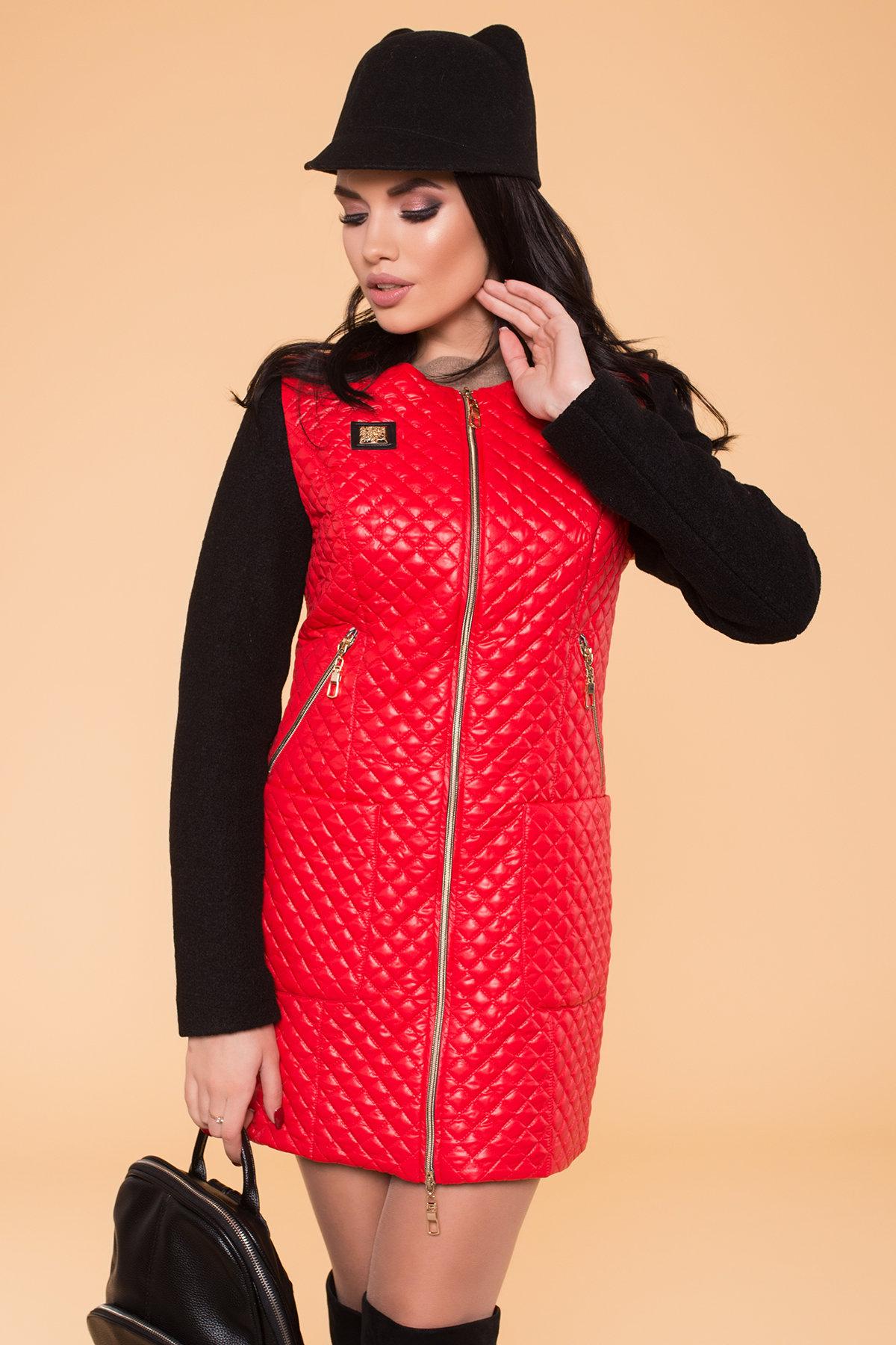 Пальто Матео 4809 АРТ. 5602 Цвет: Красный/Черный 4 - фото 4, интернет магазин tm-modus.ru