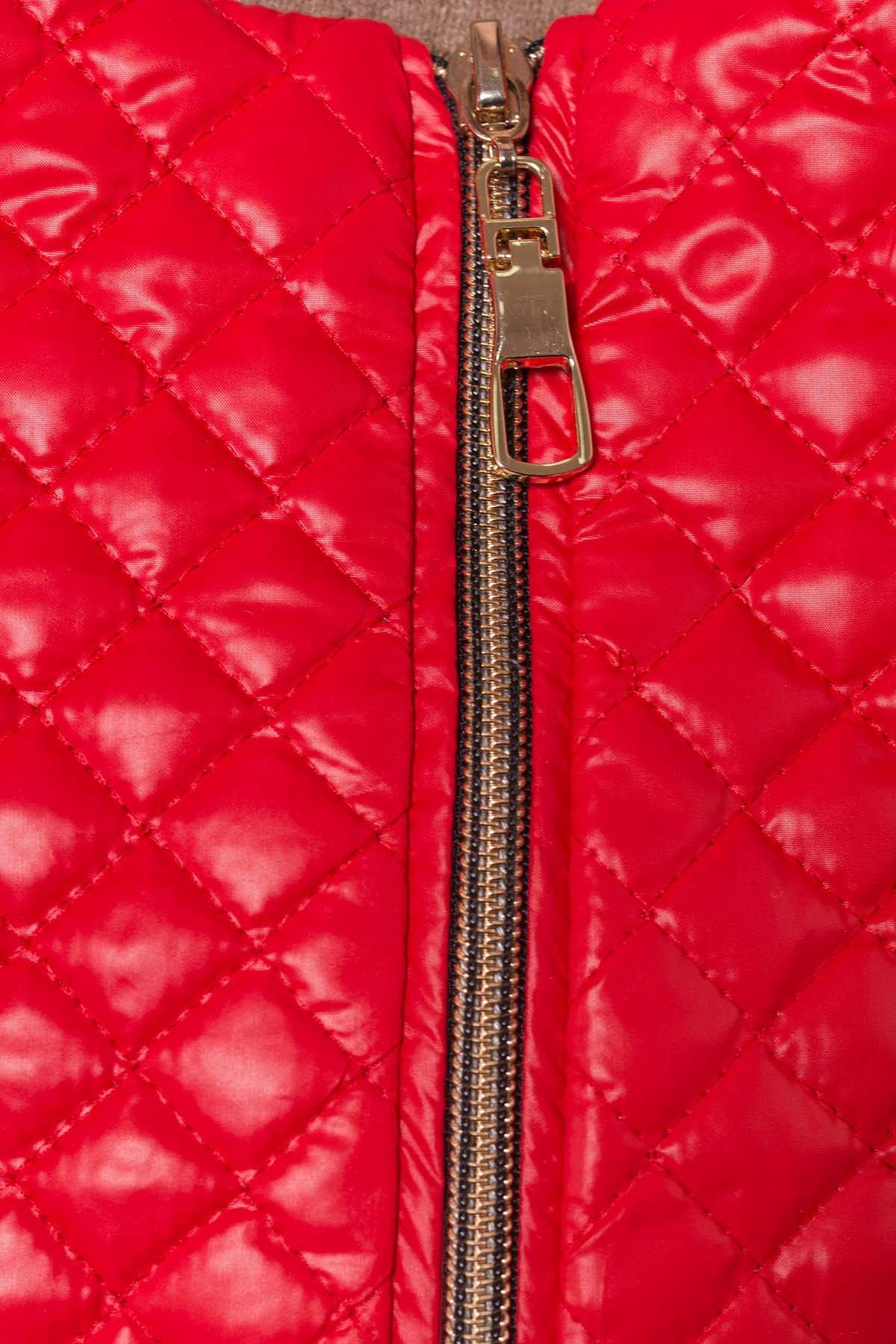 Пальто Матео 4809 АРТ. 5602 Цвет: Красный/Черный 4 - фото 5, интернет магазин tm-modus.ru