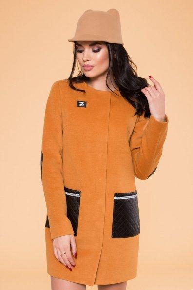 Демисезонное пальто Ричи 4898 Цвет: Горчица H 60