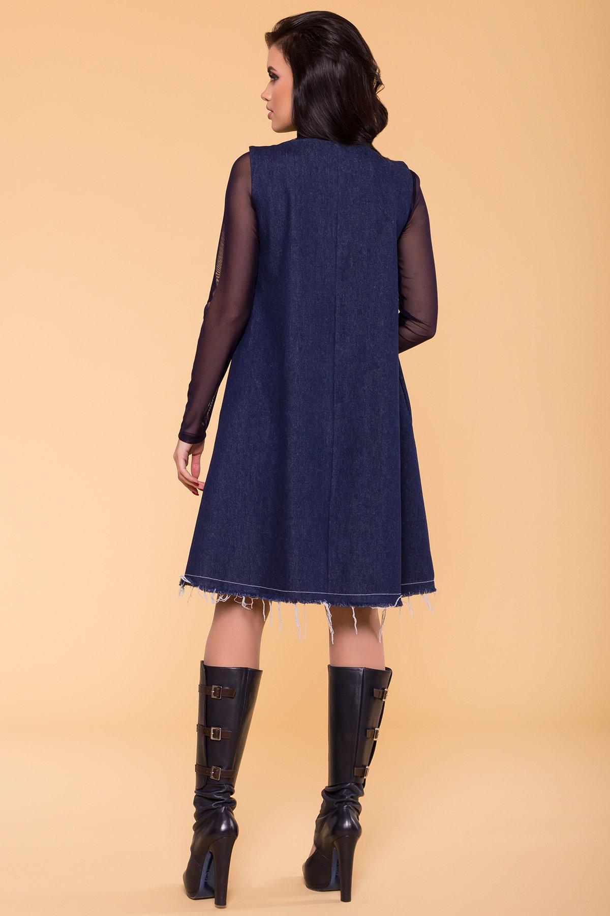Платье Индира 3404 АРТ. 17362 Цвет: Темный джинс - фото 2, интернет магазин tm-modus.ru