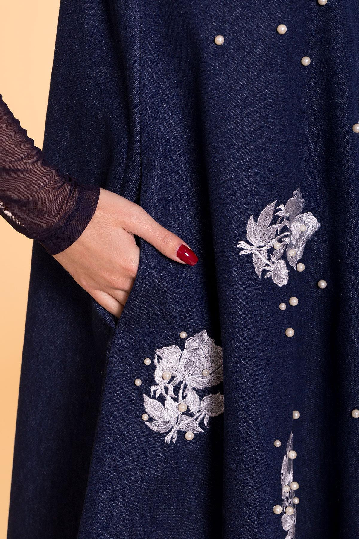 Платье Индира 3404 АРТ. 17362 Цвет: Темный джинс - фото 4, интернет магазин tm-modus.ru