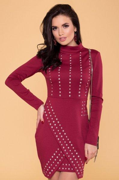 Облегающее короткое Платье Дюке 4430 Цвет: Марсала
