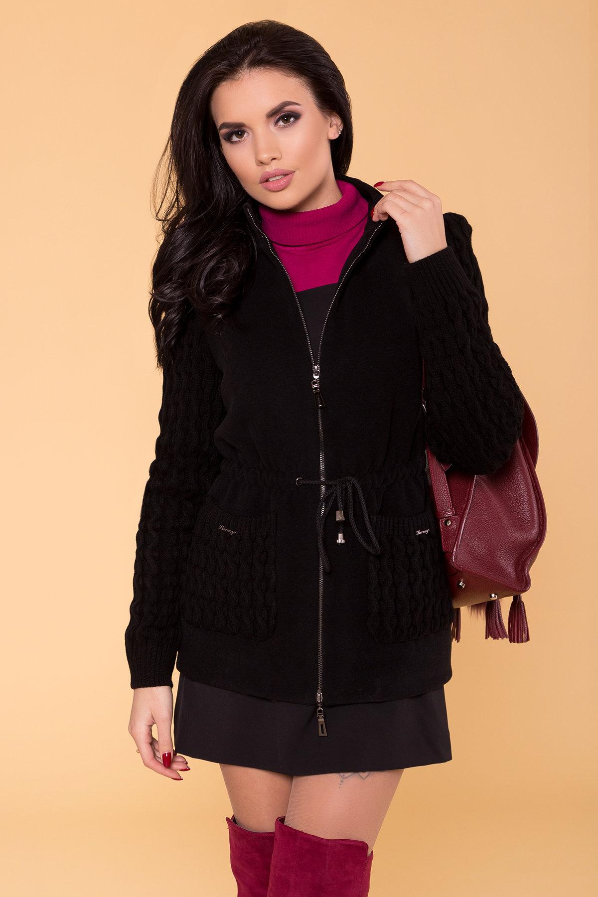 Пальто Старк 1548  АРТ. 9278 Цвет: Черный - фото 4, интернет магазин tm-modus.ru