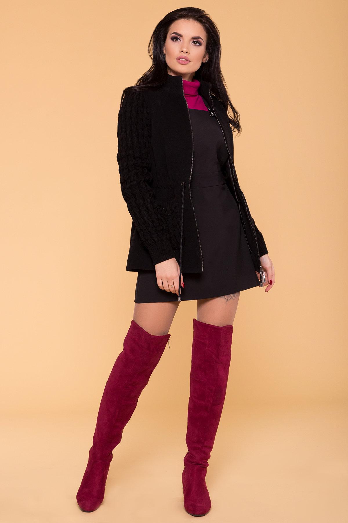 Пальто Старк 1548  АРТ. 9278 Цвет: Черный - фото 3, интернет магазин tm-modus.ru