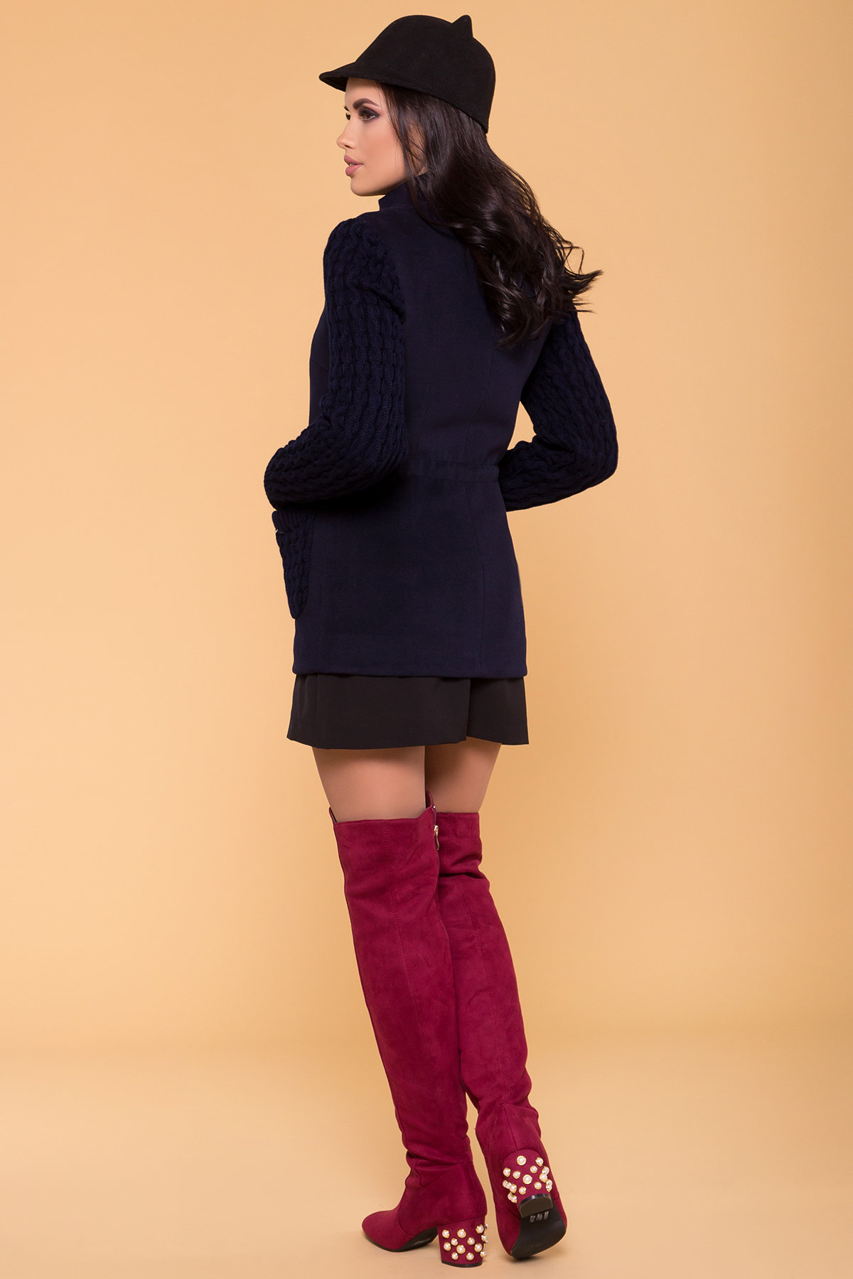 Пальто Старк 1548  Цвет: Тёмно-синий