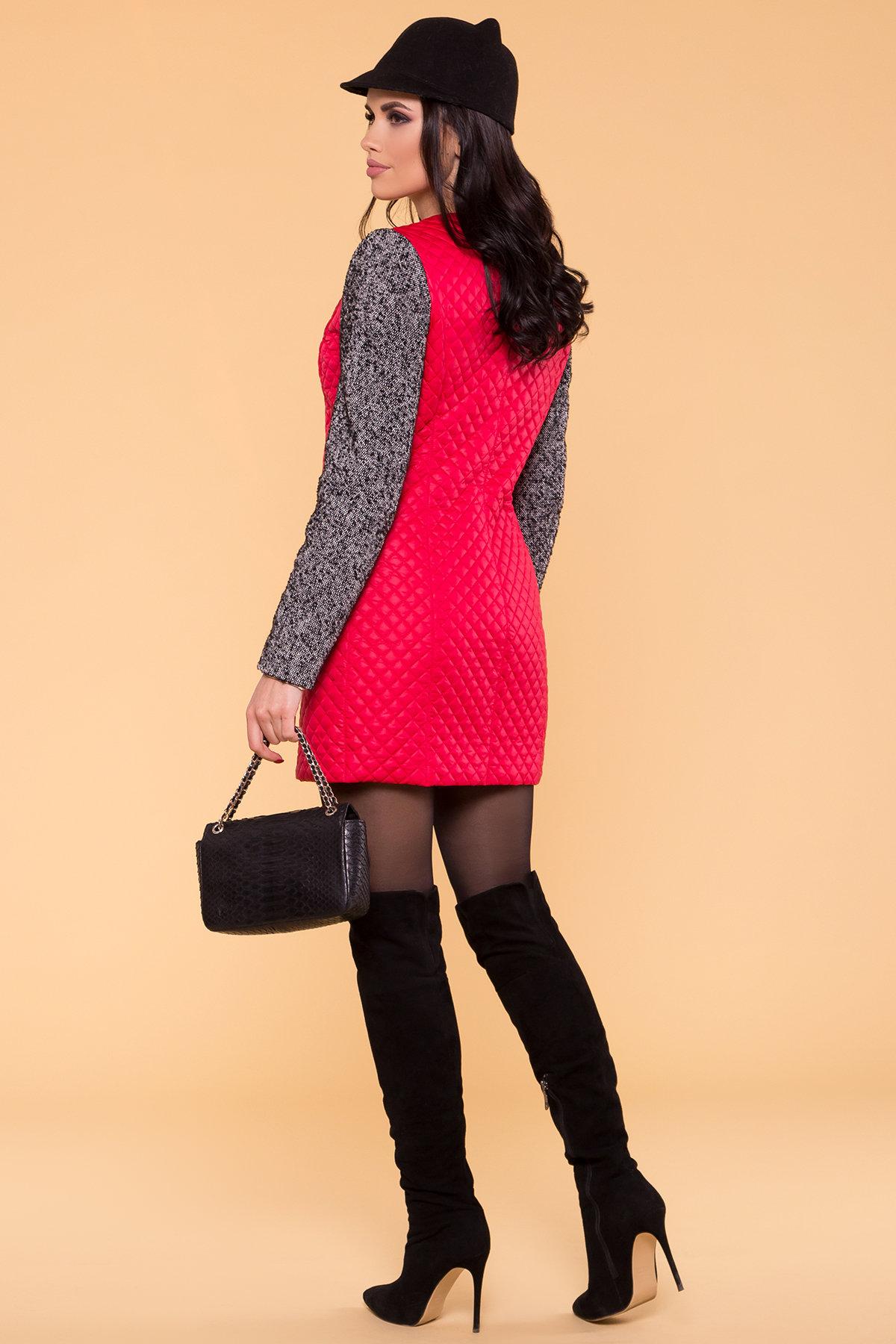 Пальто Матео 4809 Цвет: Красный/Серый 1