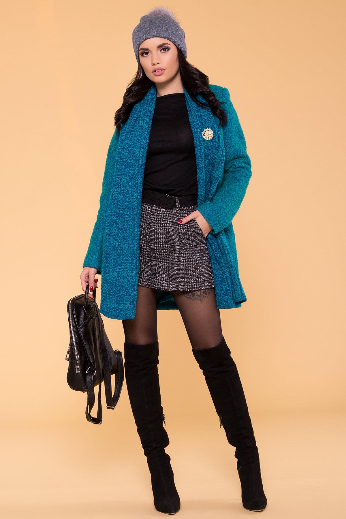 Пальто Капучино 1179   АРТ. 9136 Цвет: Бирюза - фото 3, интернет магазин tm-modus.ru