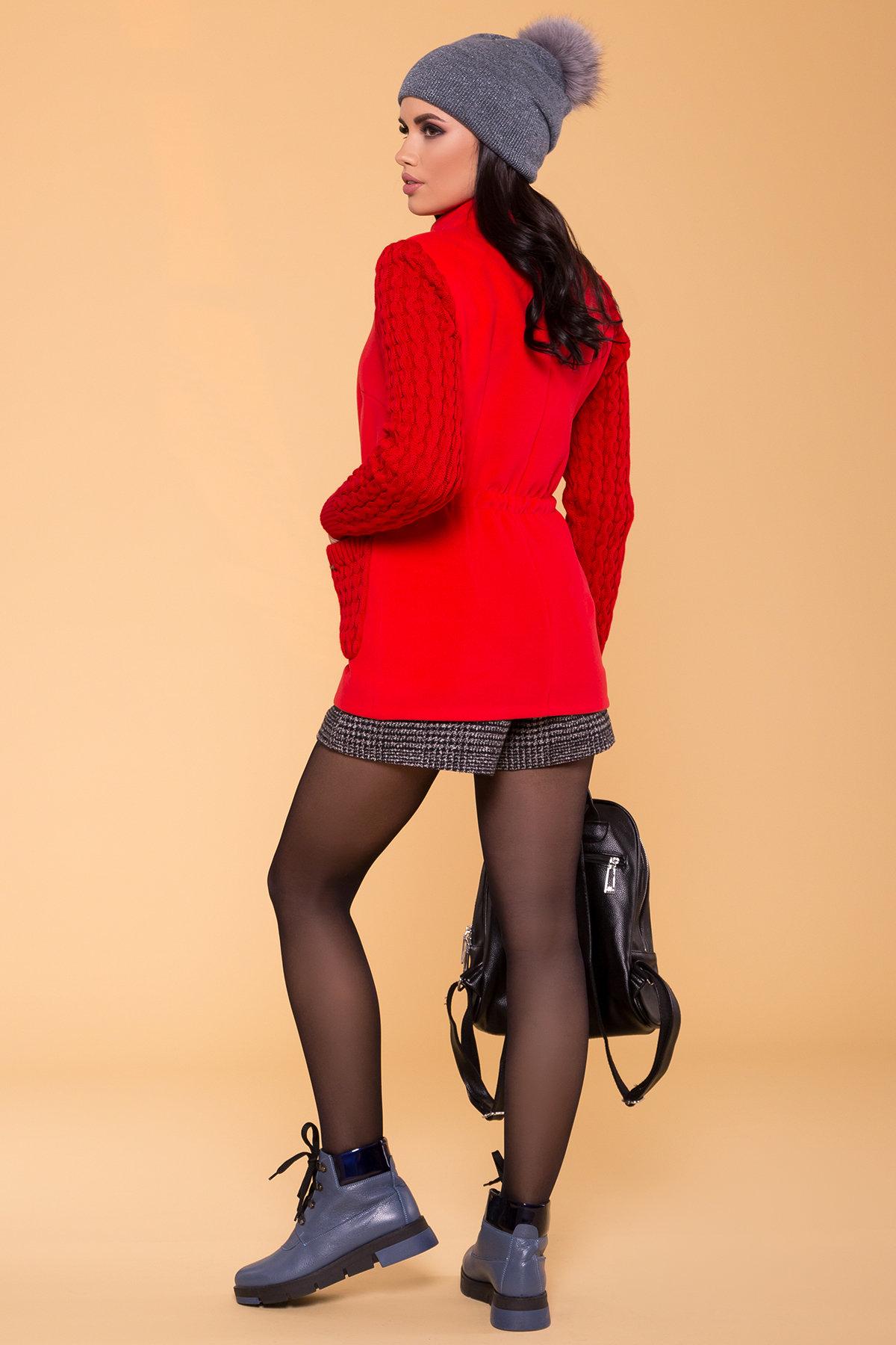 Пальто Старк 1548  АРТ. 9277 Цвет: Красный - фото 2, интернет магазин tm-modus.ru