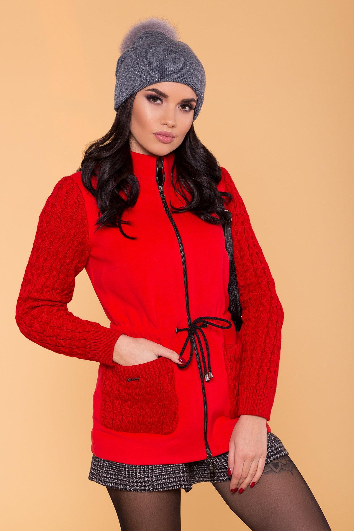 Пальто Старк 1548  Цвет: Красный