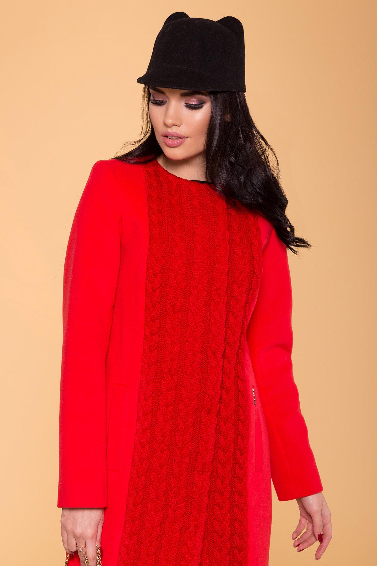 Пальто Бализ 1311 Цвет: Красный