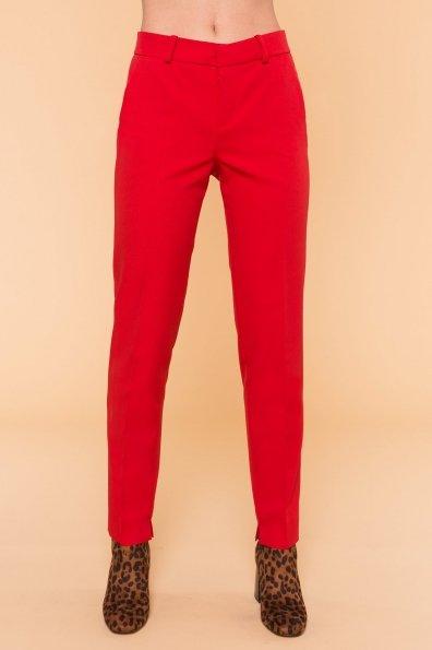 Базовые брюки со стрелками Эдвин 2467 Цвет: Красный