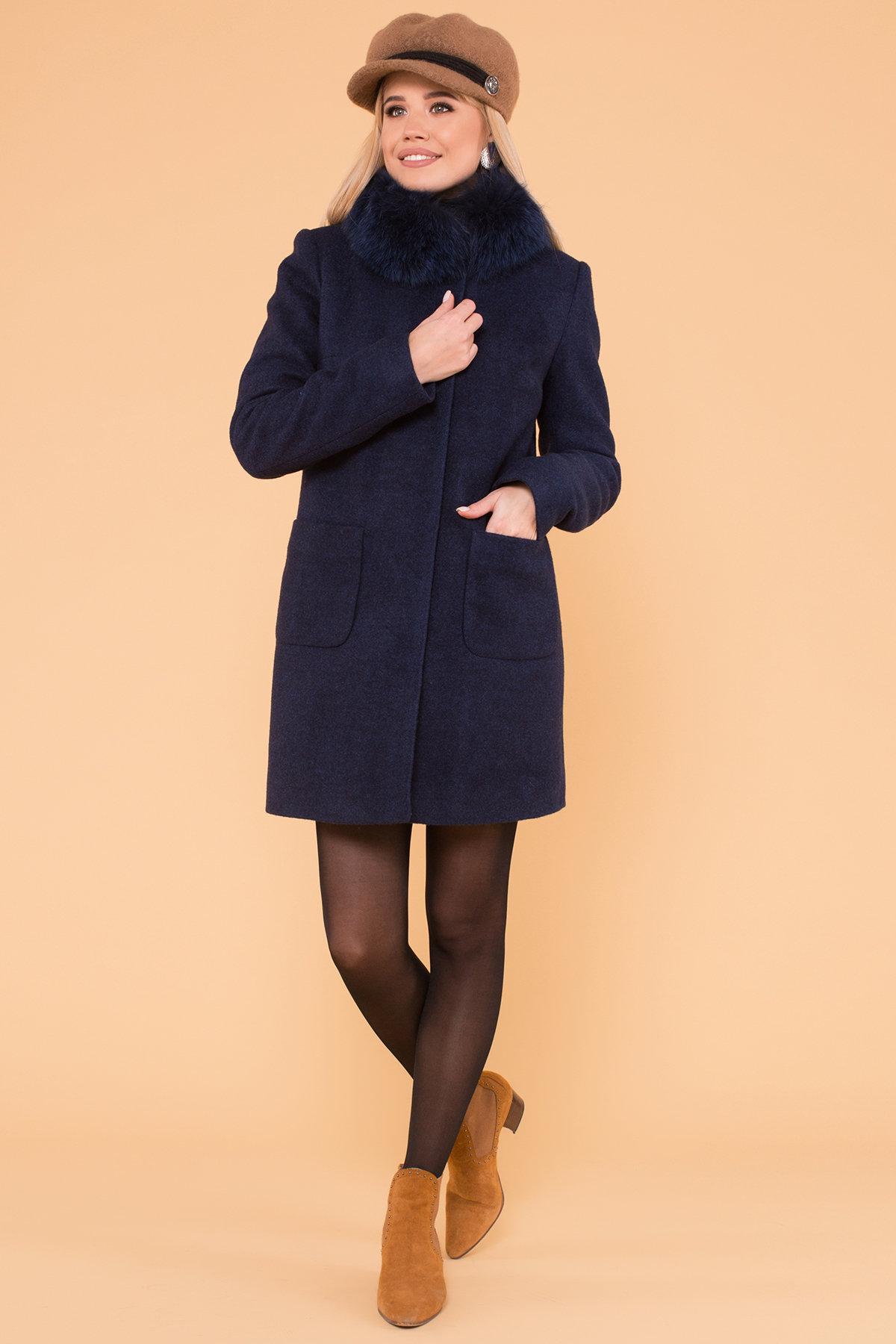 Пальто зима Мелини 5967 Цвет: Т.синий 17